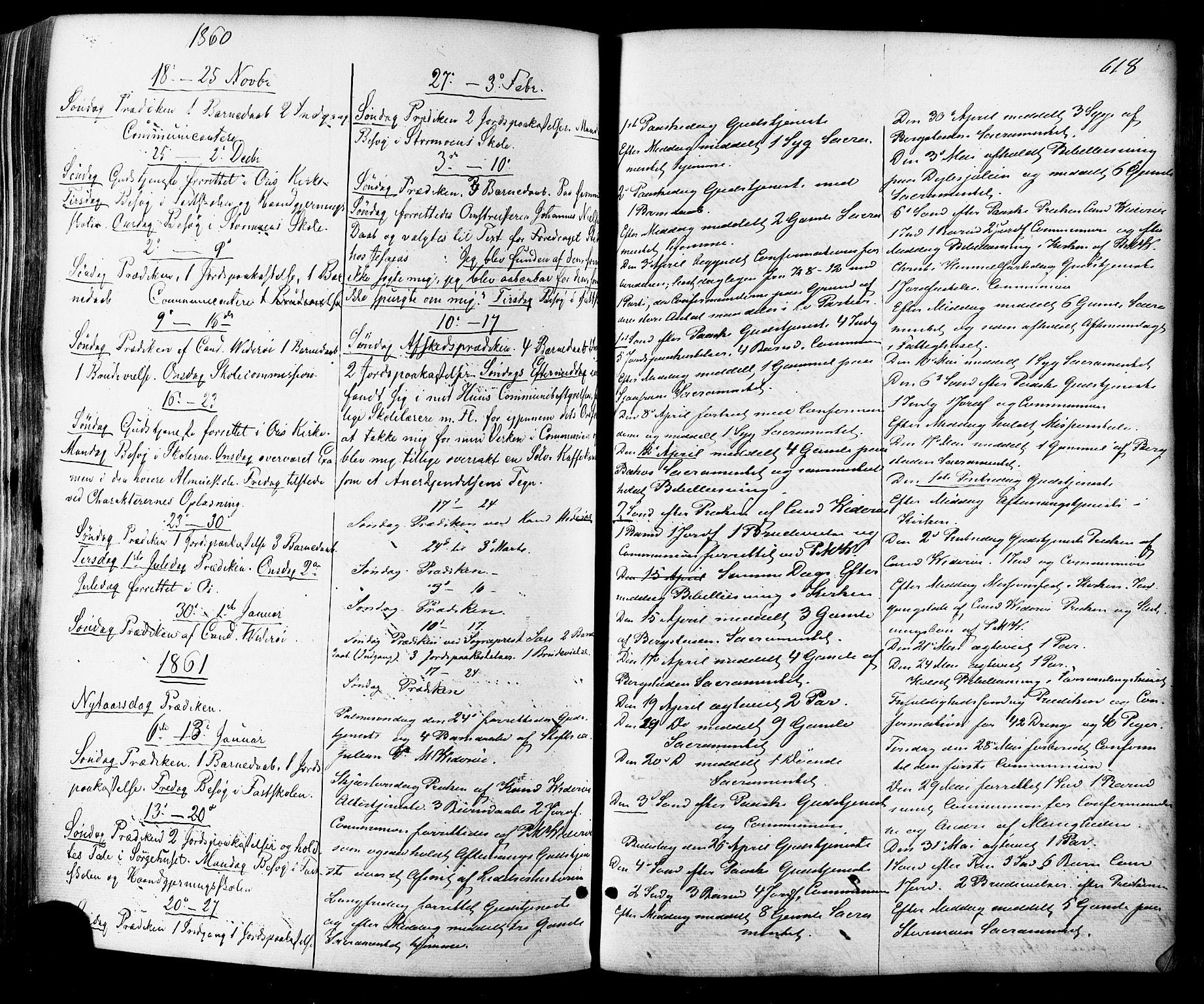 SAT, Ministerialprotokoller, klokkerbøker og fødselsregistre - Sør-Trøndelag, 681/L0932: Ministerialbok nr. 681A10, 1860-1878, s. 618