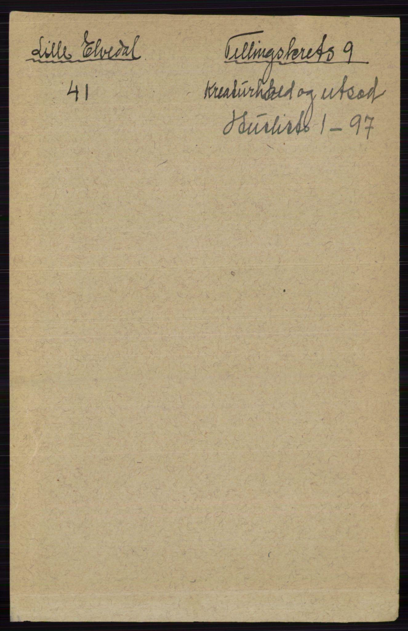 RA, Folketelling 1891 for 0438 Lille Elvedalen herred, 1891, s. 4648