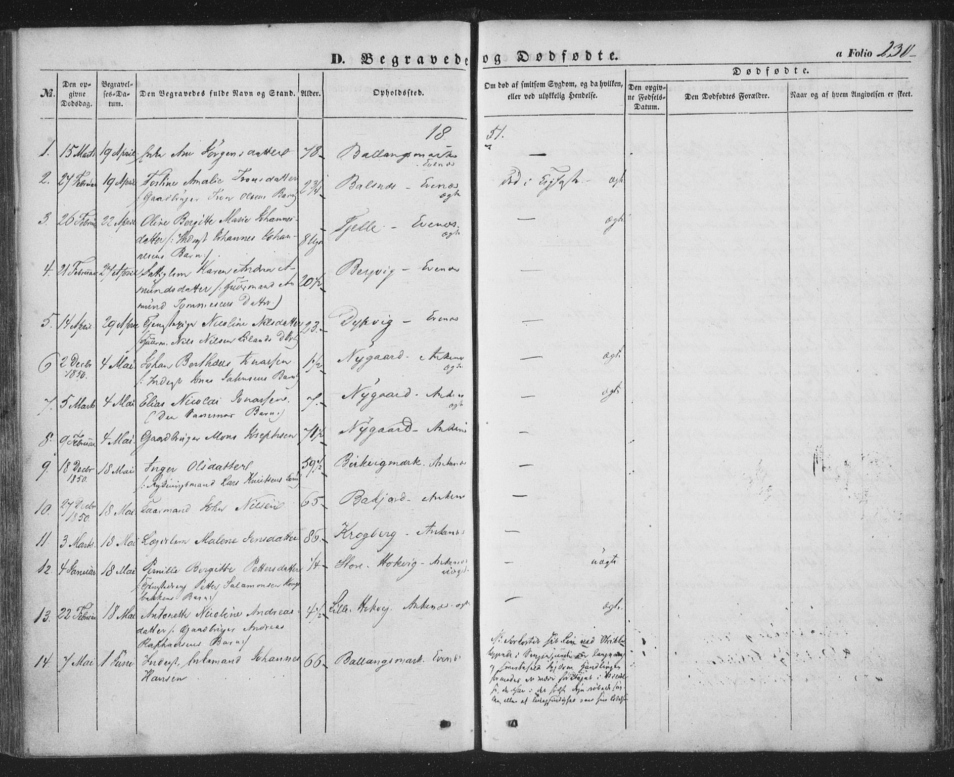 SAT, Ministerialprotokoller, klokkerbøker og fødselsregistre - Nordland, 863/L0895: Ministerialbok nr. 863A07, 1851-1860, s. 230