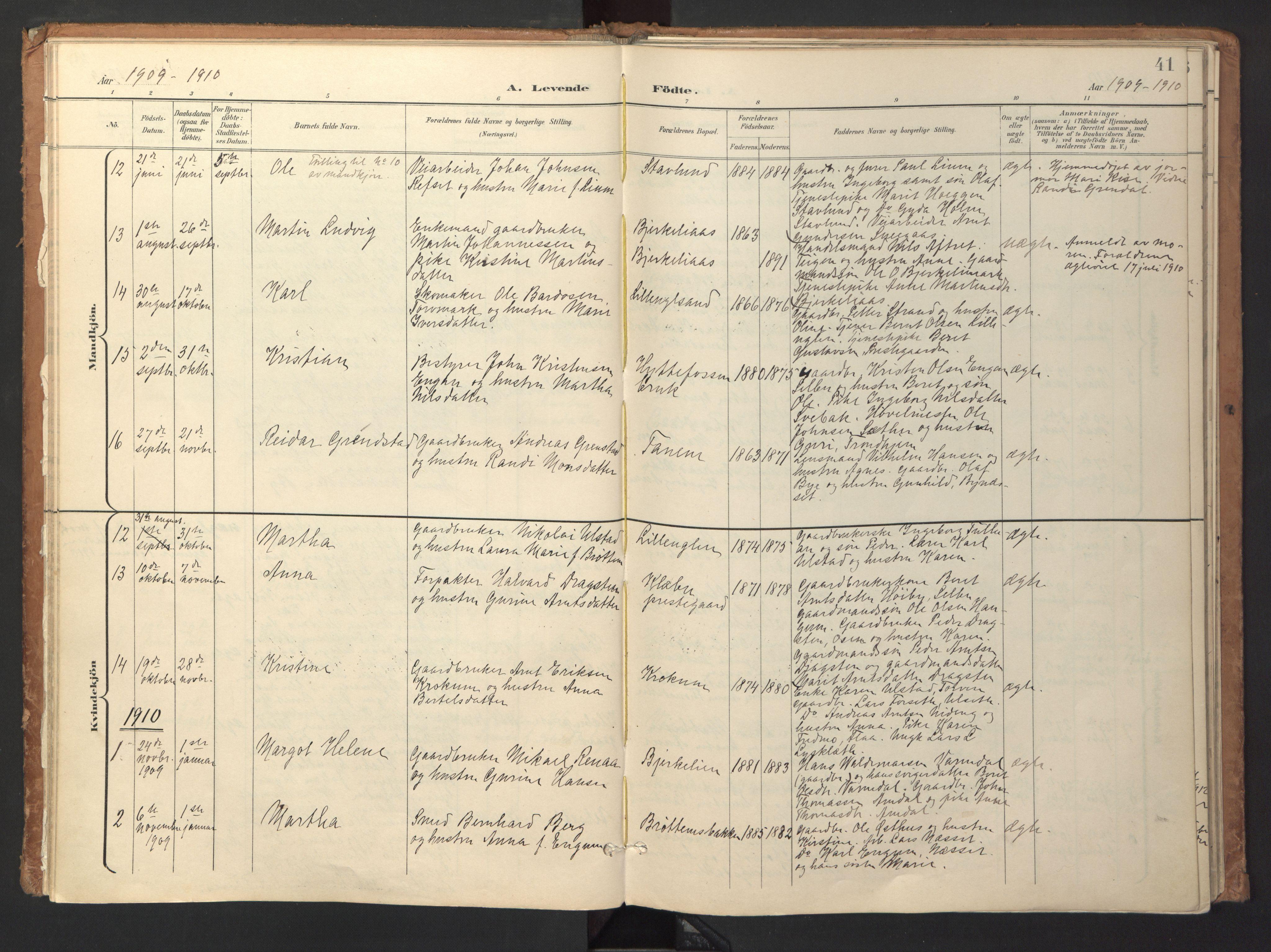 SAT, Ministerialprotokoller, klokkerbøker og fødselsregistre - Sør-Trøndelag, 618/L0448: Ministerialbok nr. 618A11, 1898-1916, s. 41