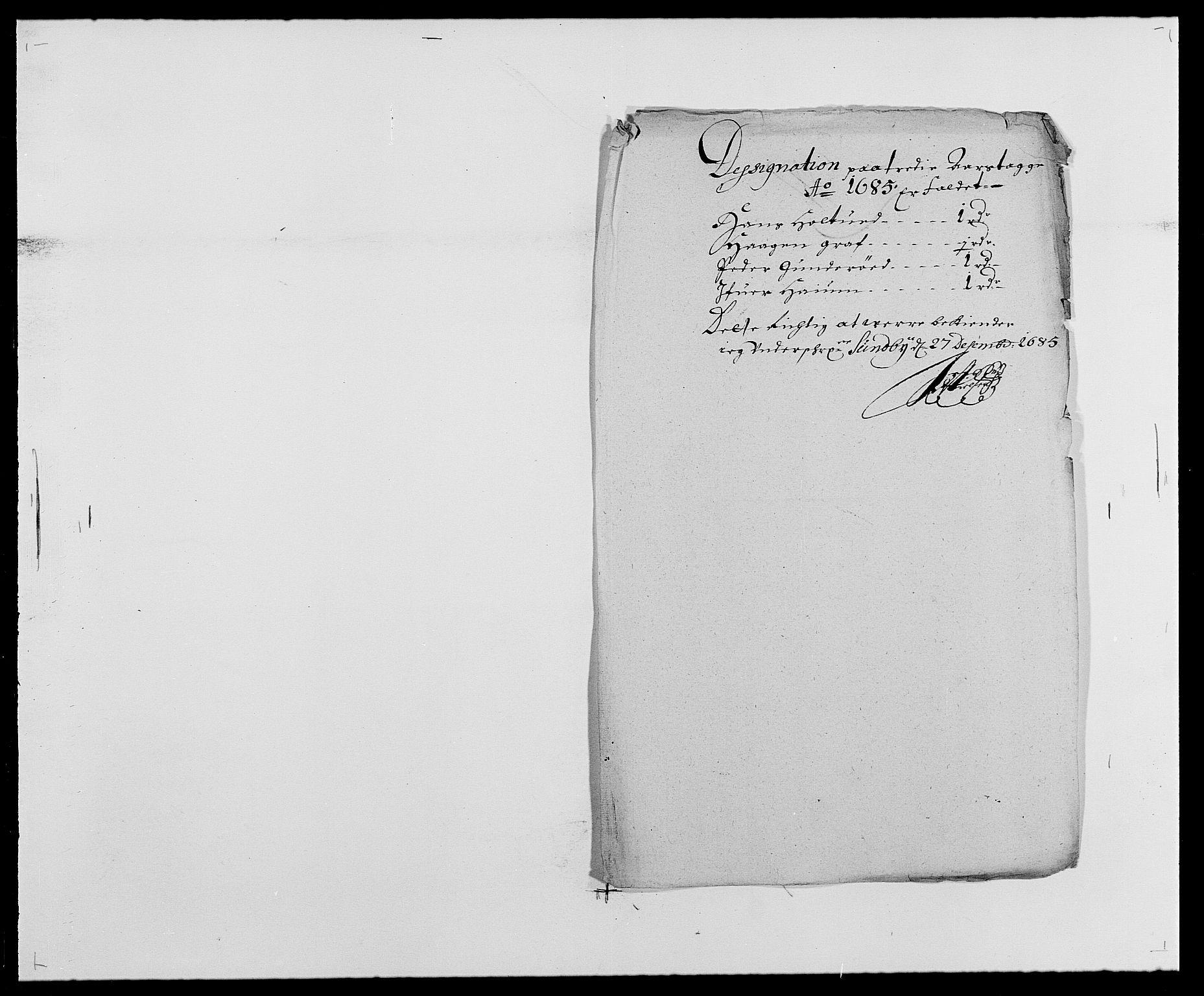 RA, Rentekammeret inntil 1814, Reviderte regnskaper, Fogderegnskap, R29/L1692: Fogderegnskap Hurum og Røyken, 1682-1687, s. 239
