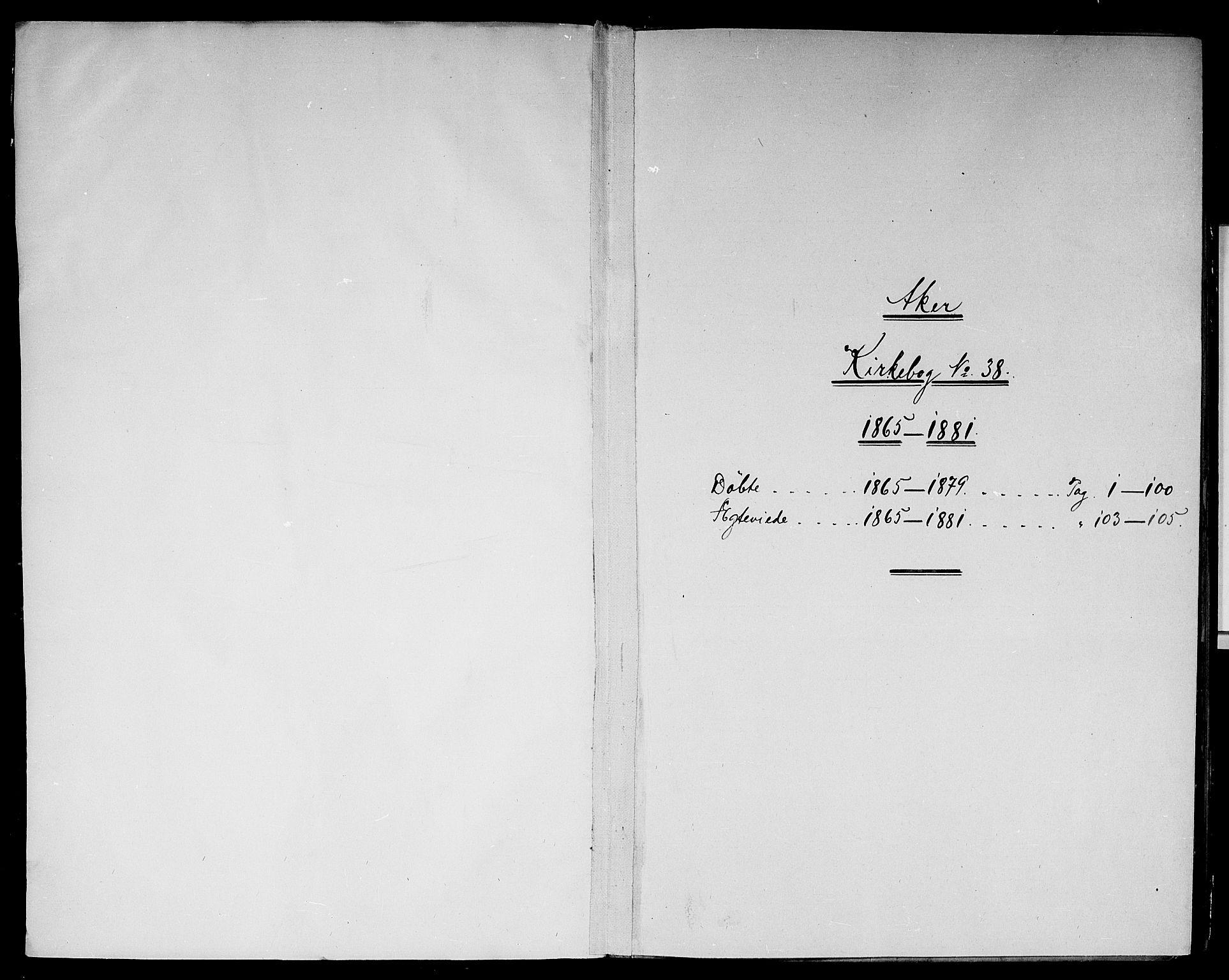 SAO, Vestre Aker prestekontor Kirkebøker, G/Gb/L0001: Klokkerbok nr. II 1, 1865-1881