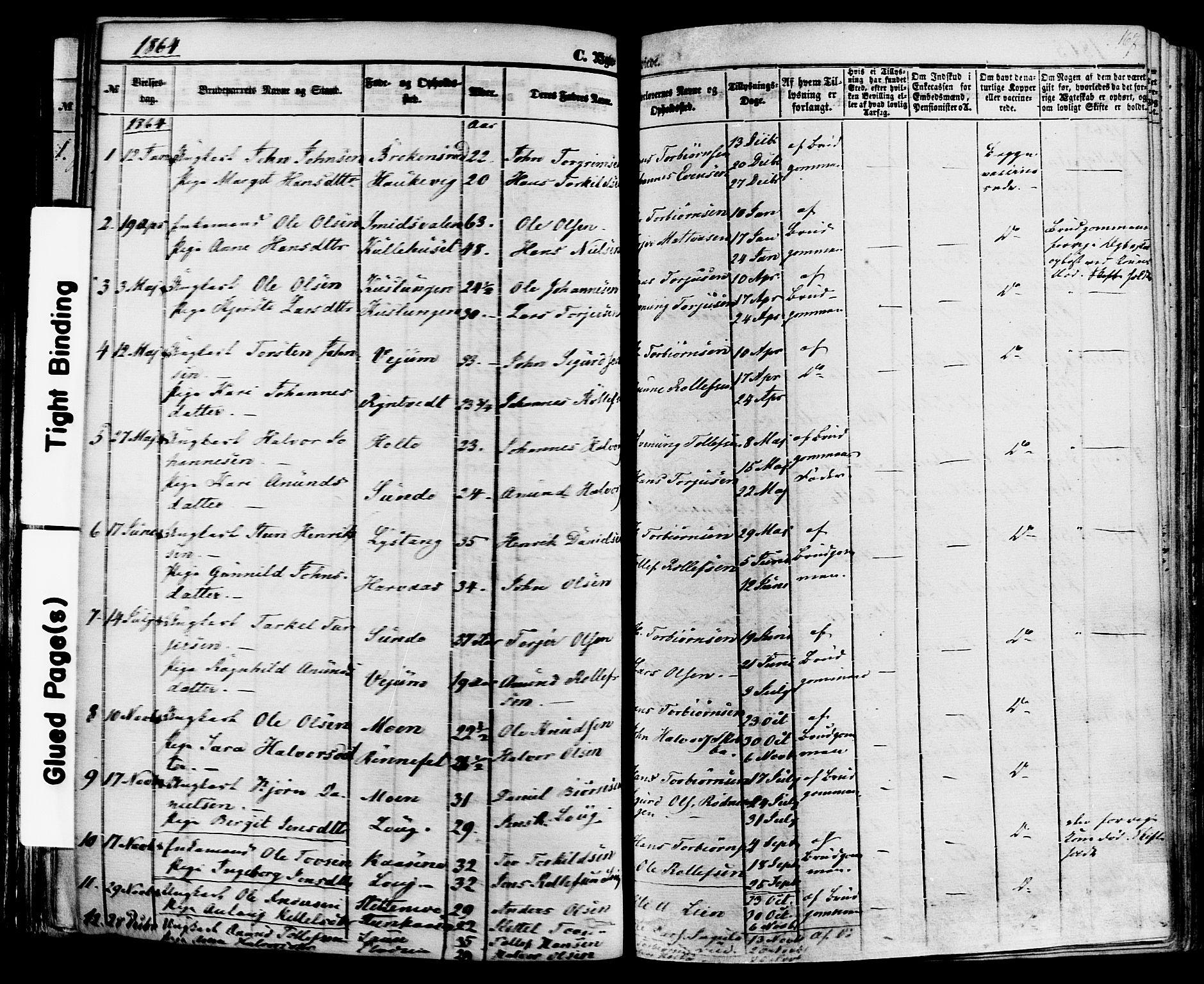 SAKO, Sauherad kirkebøker, F/Fa/L0007: Ministerialbok nr. I 7, 1851-1873, s. 167