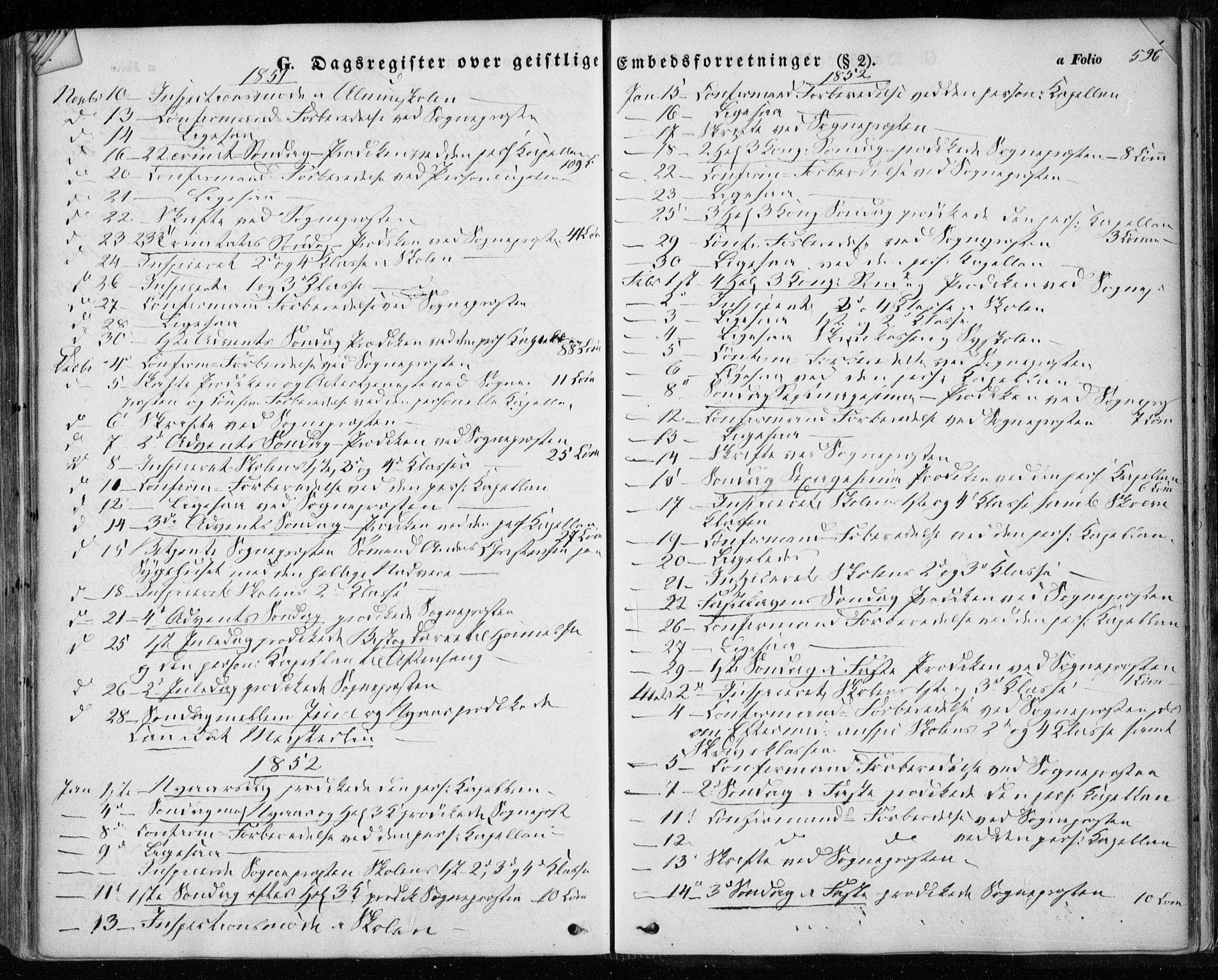 SAT, Ministerialprotokoller, klokkerbøker og fødselsregistre - Sør-Trøndelag, 601/L0051: Ministerialbok nr. 601A19, 1848-1857, s. 596