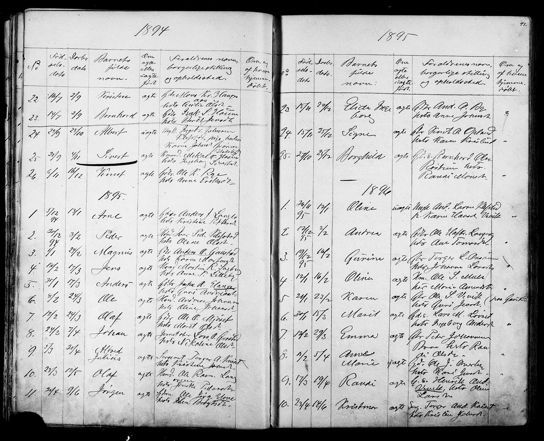 SAT, Ministerialprotokoller, klokkerbøker og fødselsregistre - Sør-Trøndelag, 612/L0387: Klokkerbok nr. 612C03, 1874-1908, s. 41