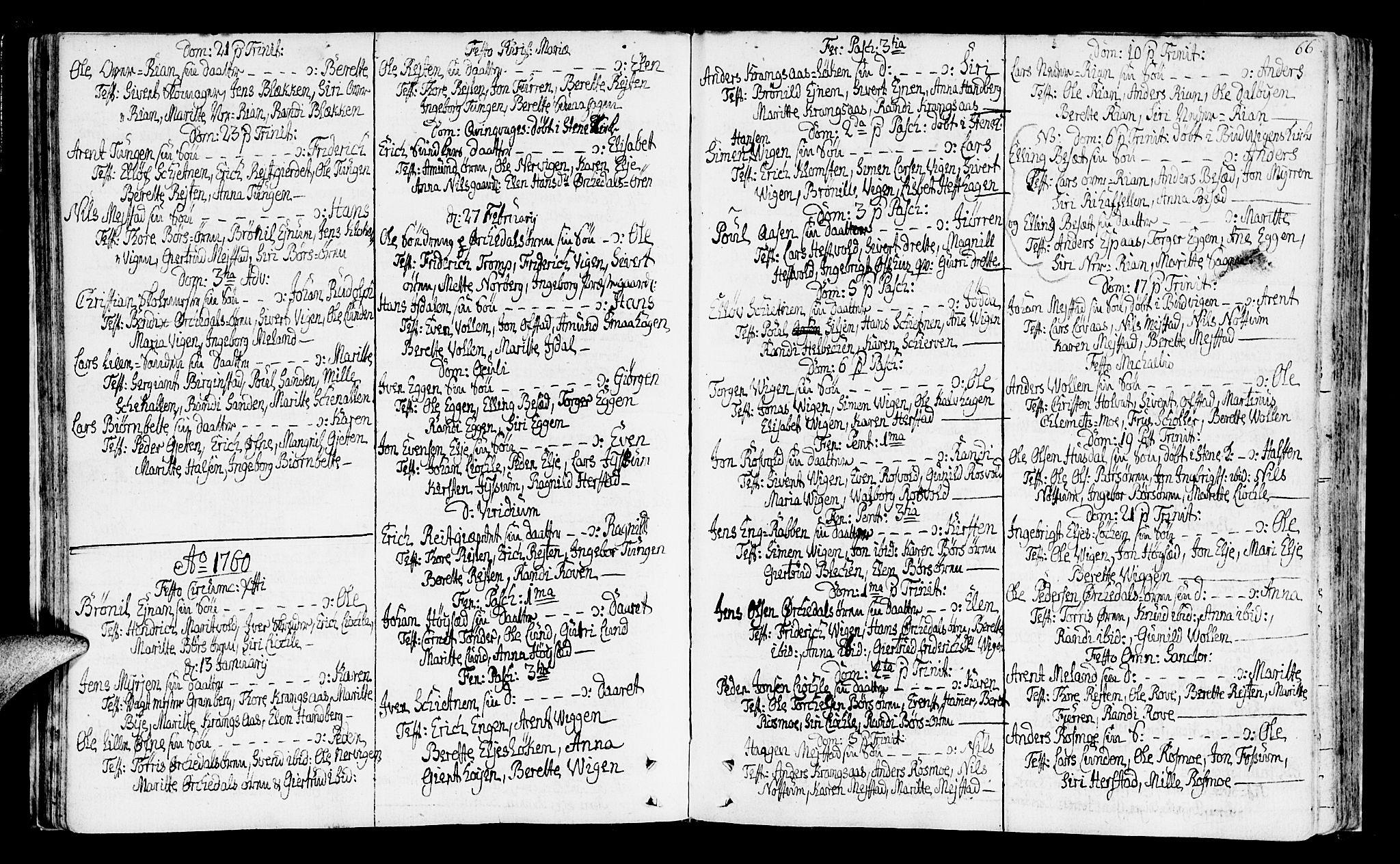 SAT, Ministerialprotokoller, klokkerbøker og fødselsregistre - Sør-Trøndelag, 665/L0768: Ministerialbok nr. 665A03, 1754-1803, s. 66