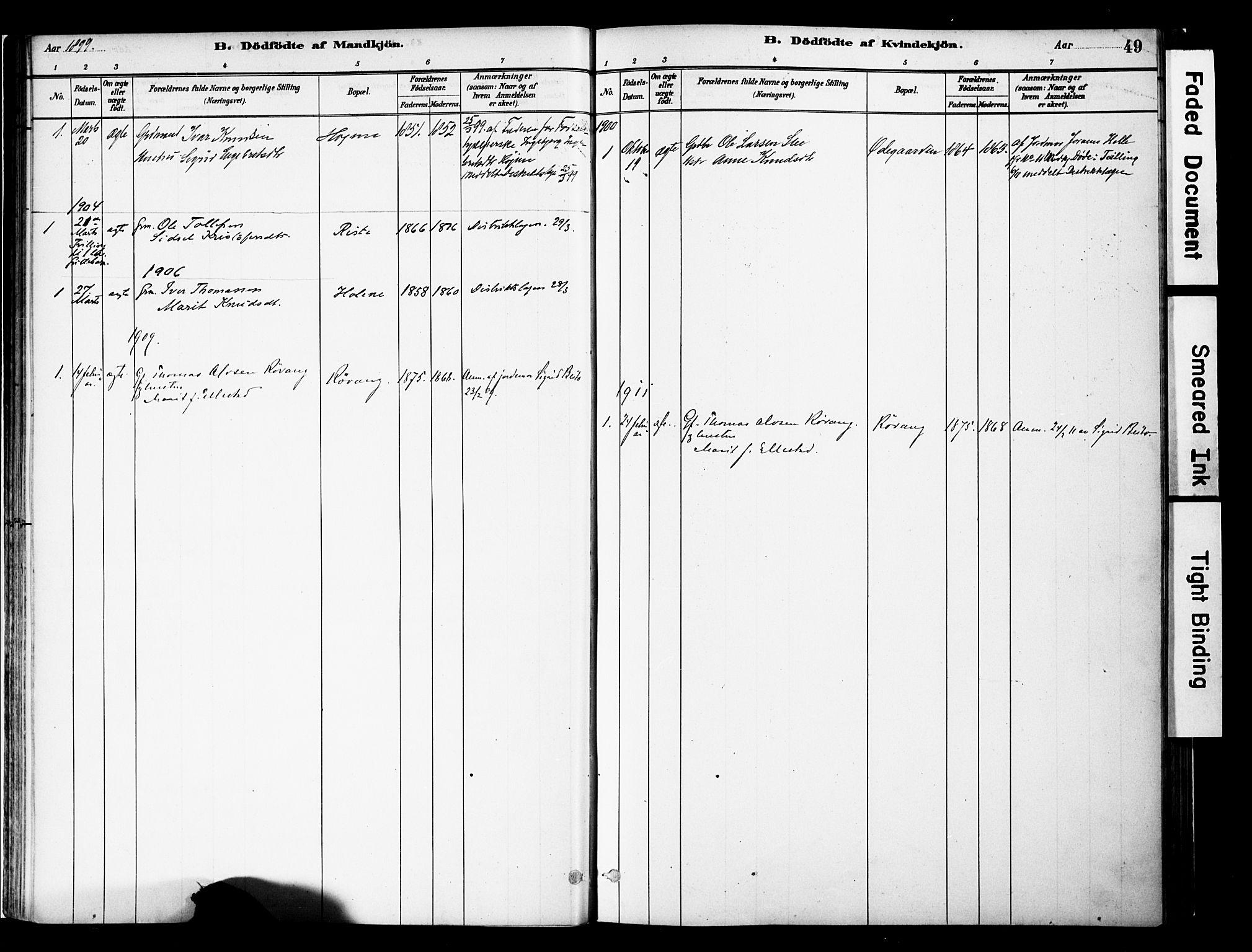 SAH, Vestre Slidre prestekontor, Ministerialbok nr. 5, 1881-1912, s. 49