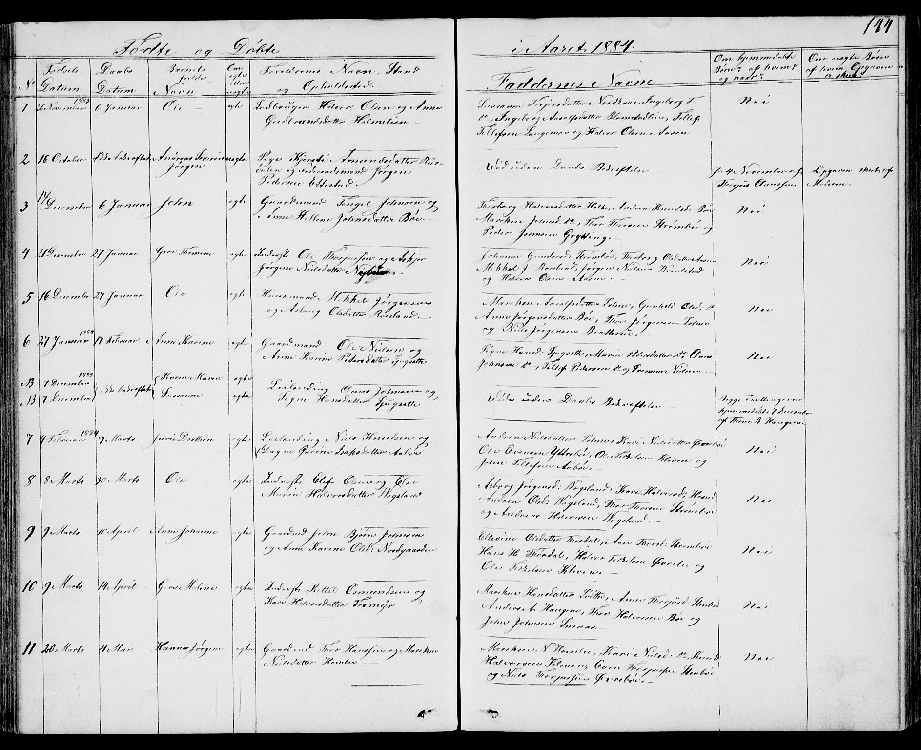 SAKO, Drangedal kirkebøker, G/Gb/L0001: Klokkerbok nr. II 1, 1856-1894, s. 144