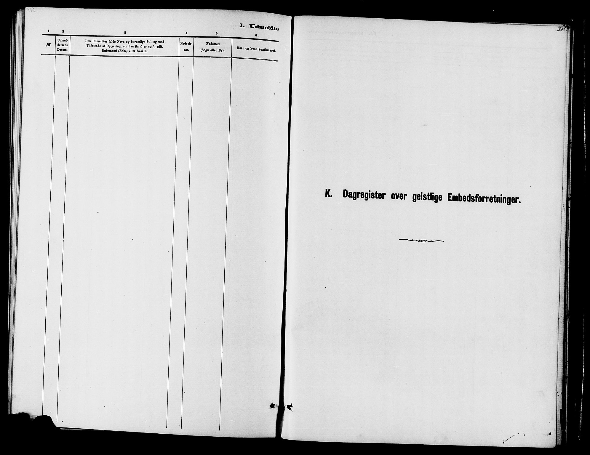 SAH, Vardal prestekontor, H/Ha/Haa/L0010: Ministerialbok nr. 10, 1878-1893, s. 205