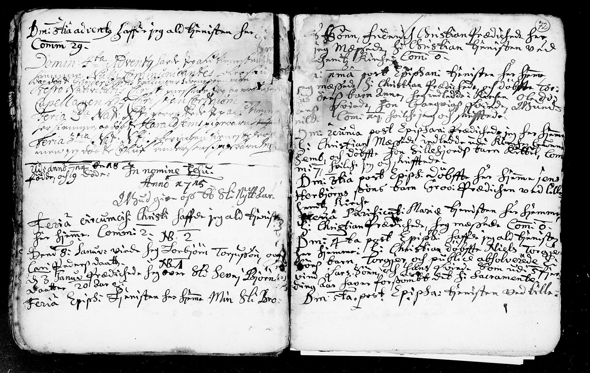 SAKO, Heddal kirkebøker, F/Fa/L0002: Ministerialbok nr. I 2, 1699-1722, s. 72