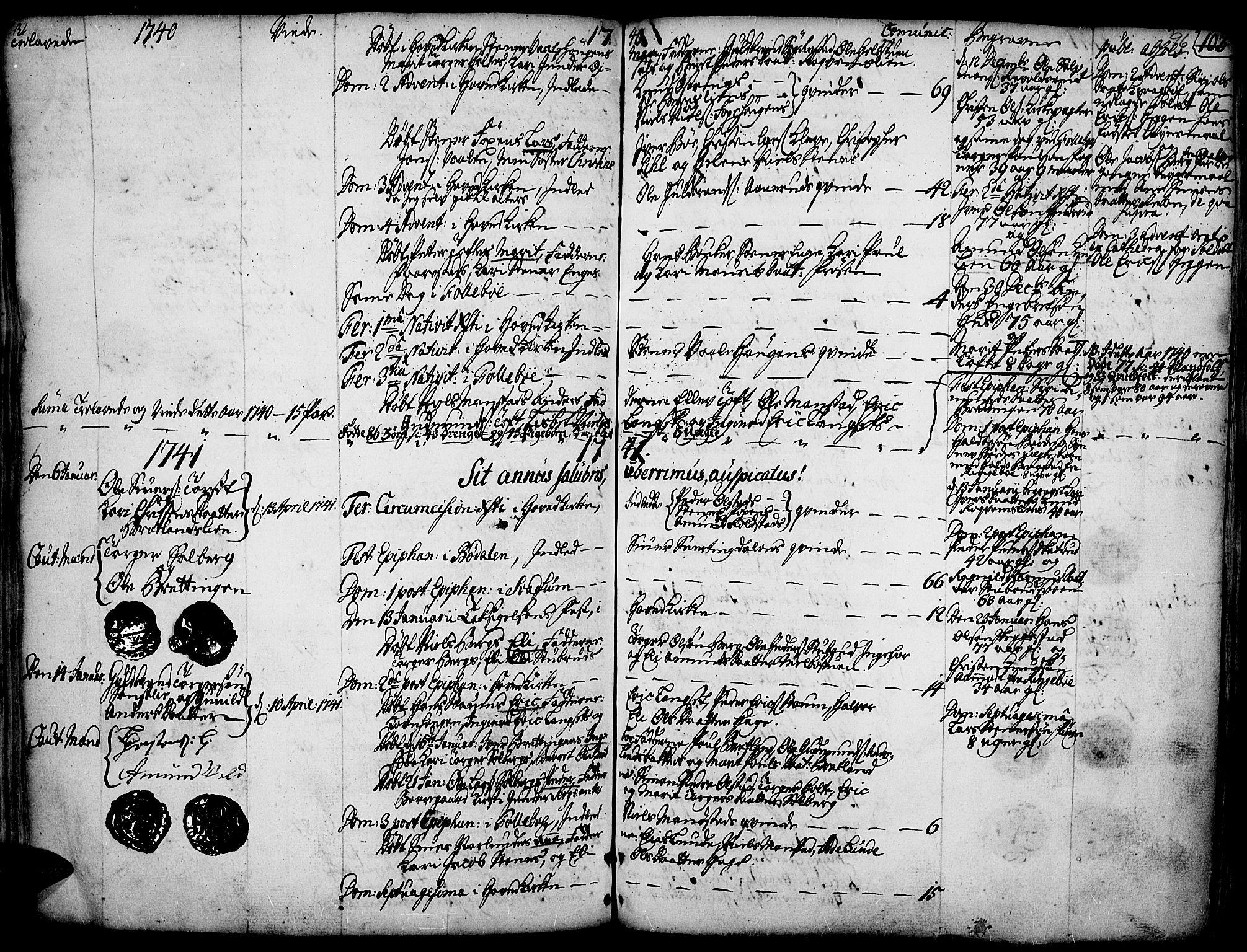 SAH, Gausdal prestekontor, Ministerialbok nr. 2, 1729-1757, s. 96