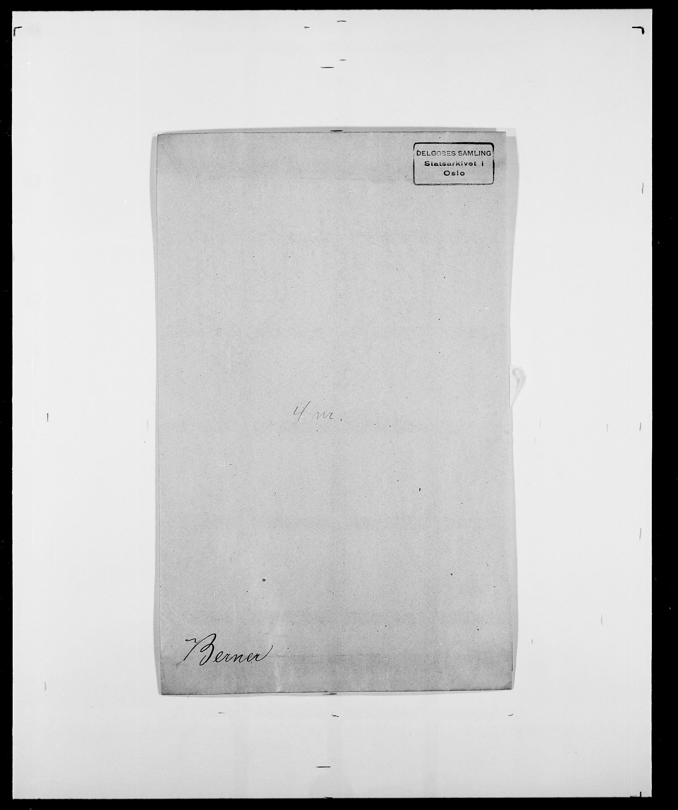 SAO, Delgobe, Charles Antoine - samling, D/Da/L0004: Bergendahl - Blære, s. 75