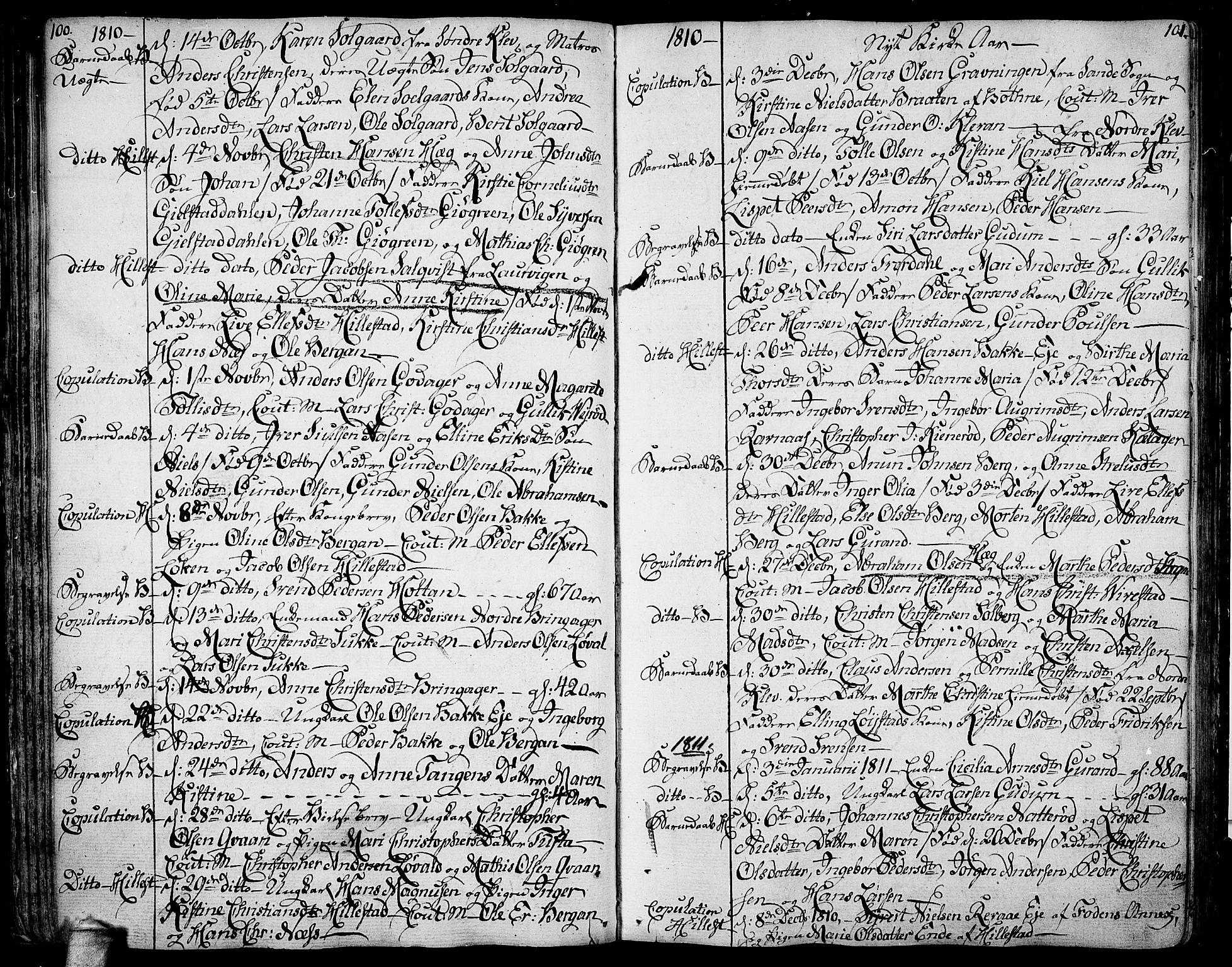SAKO, Botne kirkebøker, F/Fa/L0003: Ministerialbok nr. I 3 /1, 1792-1844, s. 100-101