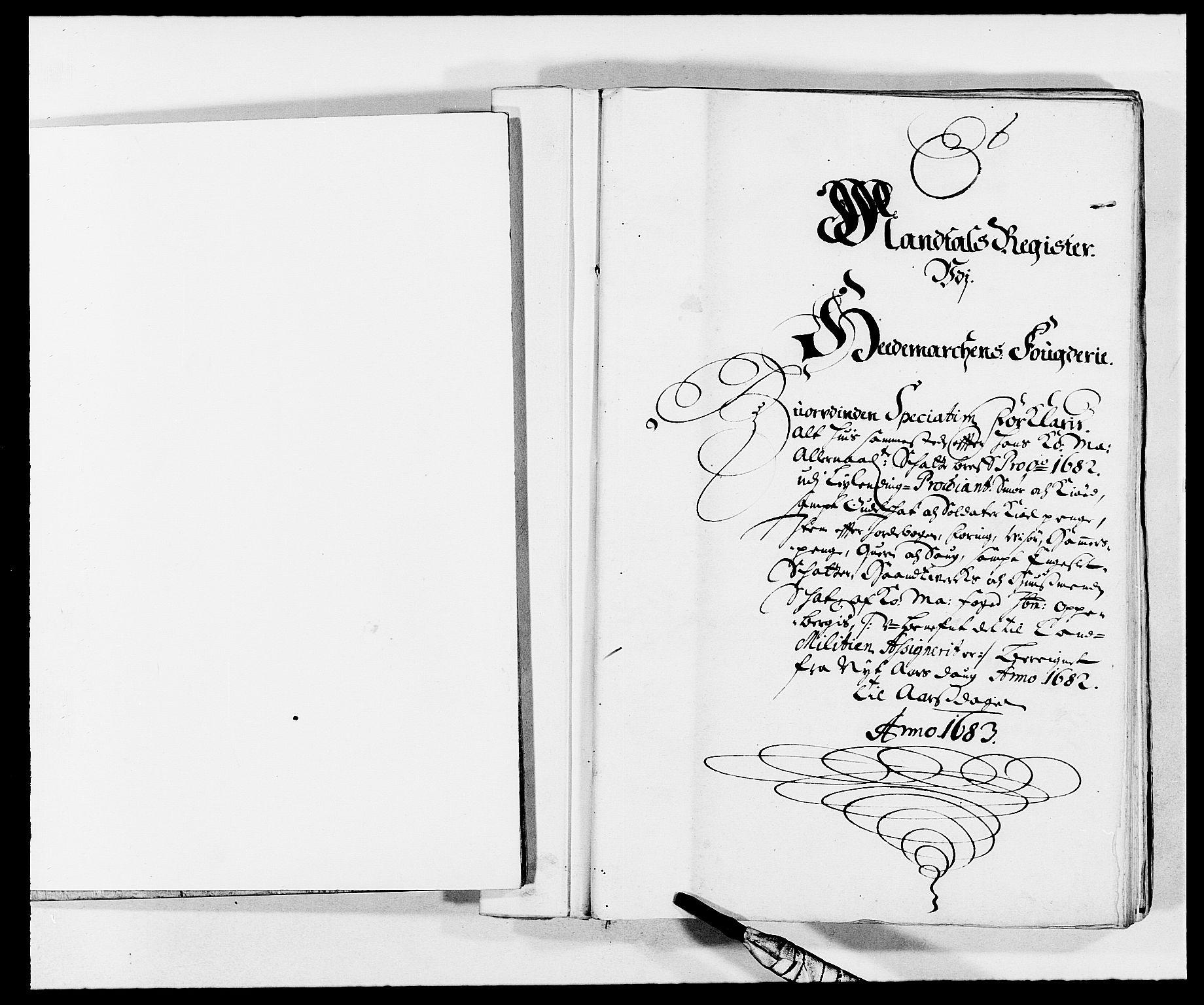 RA, Rentekammeret inntil 1814, Reviderte regnskaper, Fogderegnskap, R16/L1023: Fogderegnskap Hedmark, 1682, s. 1