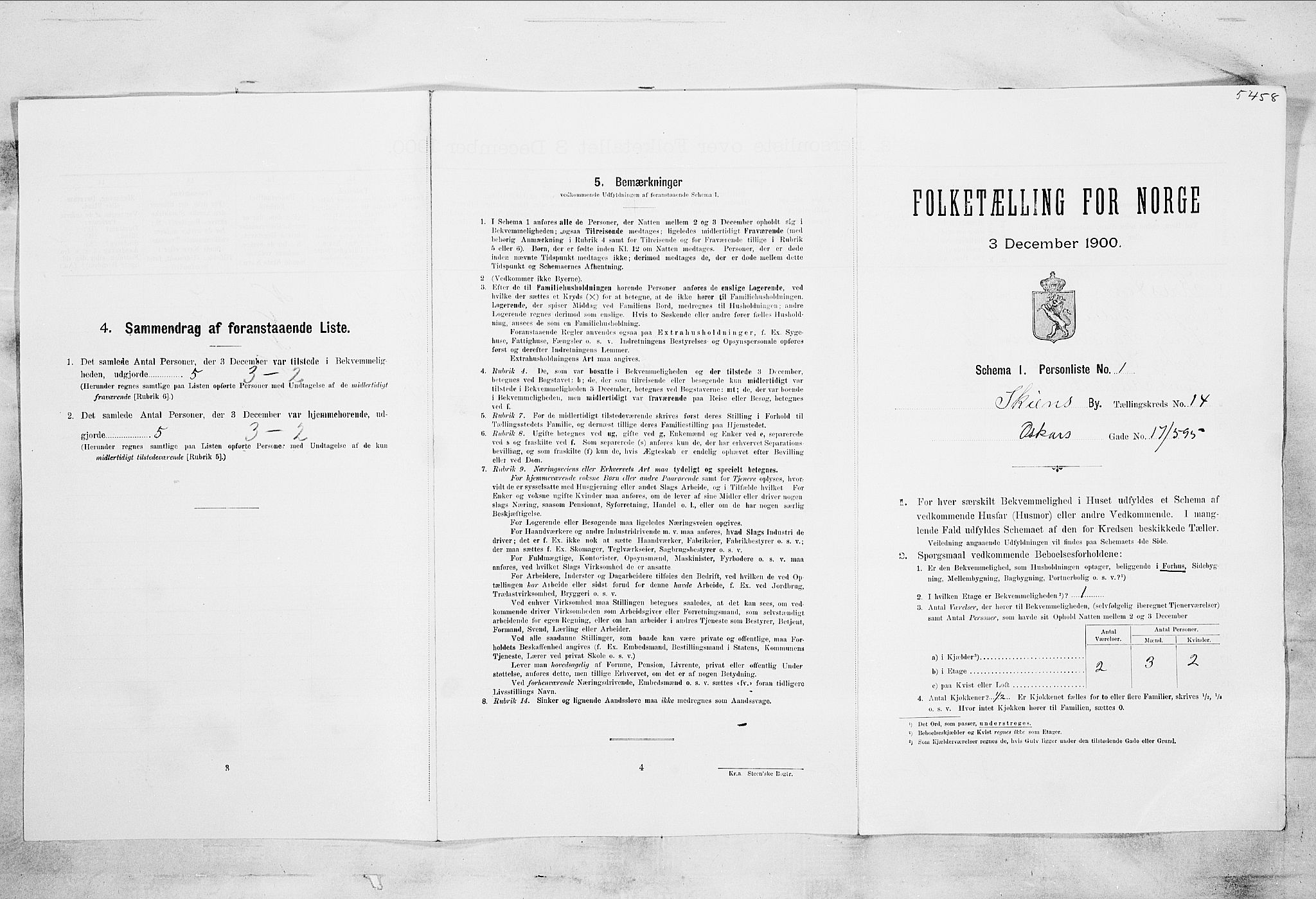 SAKO, Folketelling 1900 for 0806 Skien kjøpstad, 1900, s. 2350