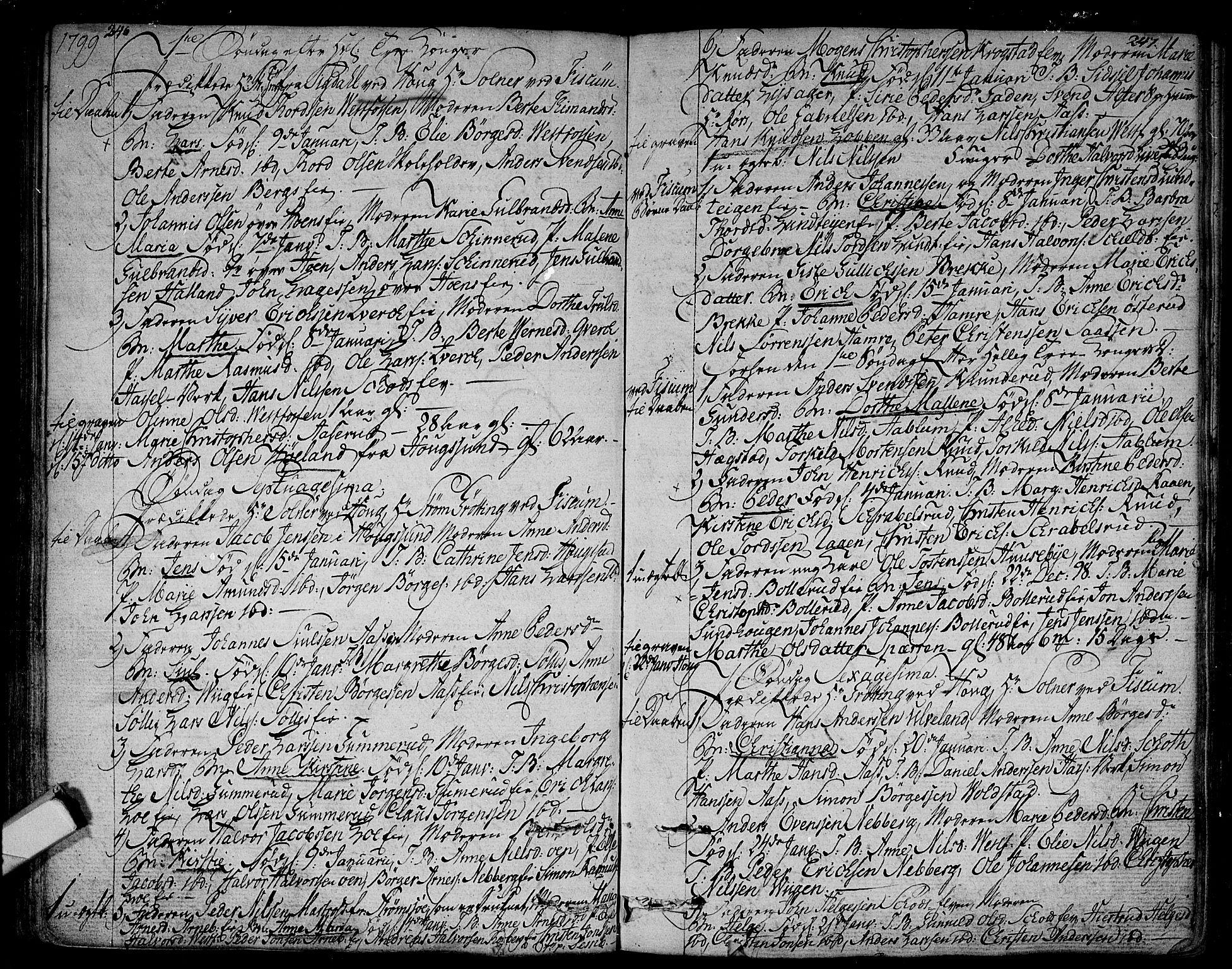 SAKO, Eiker kirkebøker, F/Fa/L0009: Ministerialbok nr. I 9, 1789-1806, s. 246-247