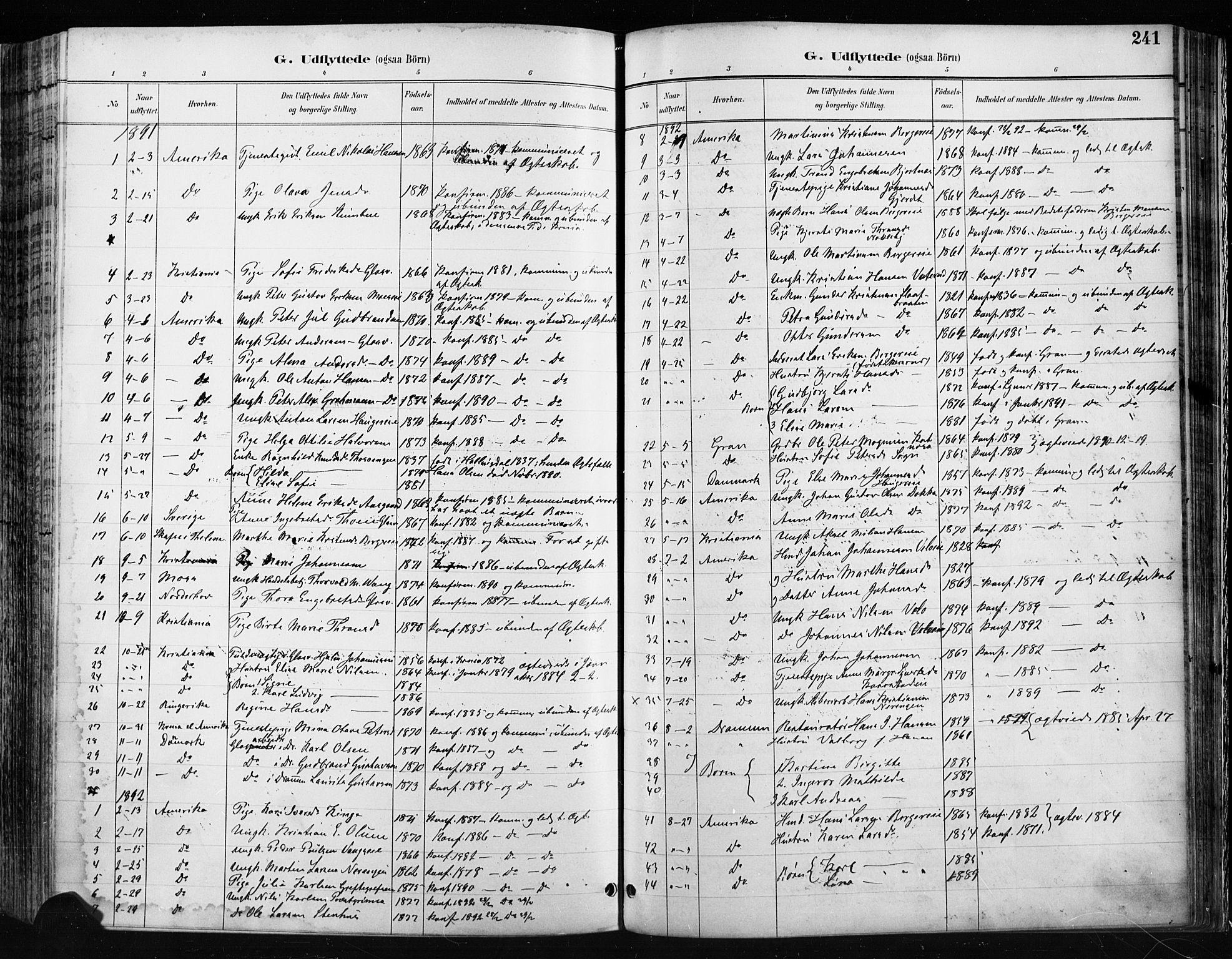 SAH, Jevnaker prestekontor, Ministerialbok nr. 9, 1891-1901, s. 241