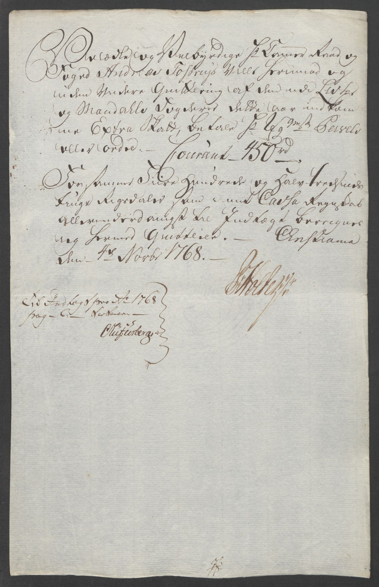 RA, Rentekammeret inntil 1814, Reviderte regnskaper, Fogderegnskap, R45/L2704: Ekstraskatten Lista og Mandal, 1762-1768, s. 226