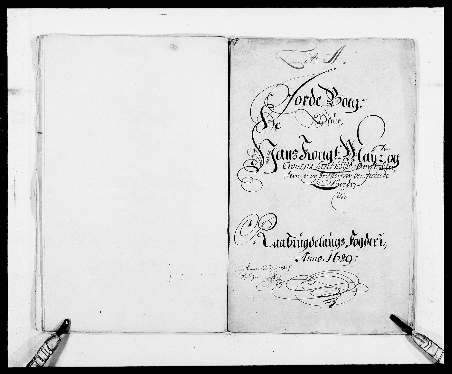RA, Rentekammeret inntil 1814, Reviderte regnskaper, Fogderegnskap, R40/L2442: Fogderegnskap Råbyggelag, 1689-1690, s. 23