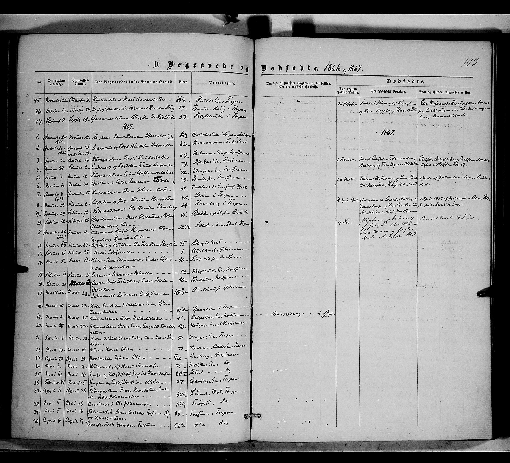 SAH, Nordre Land prestekontor, Ministerialbok nr. 1, 1860-1871, s. 193