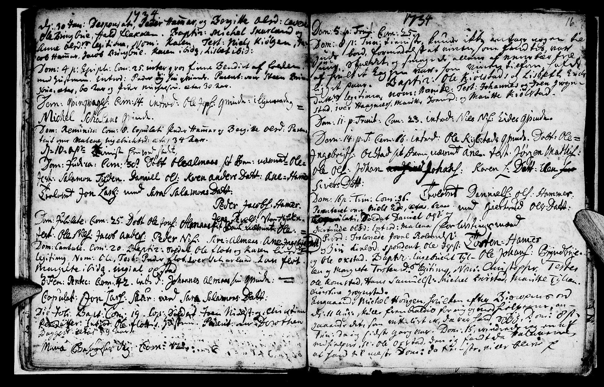 SAT, Ministerialprotokoller, klokkerbøker og fødselsregistre - Nord-Trøndelag, 765/L0560: Ministerialbok nr. 765A01, 1706-1748, s. 16