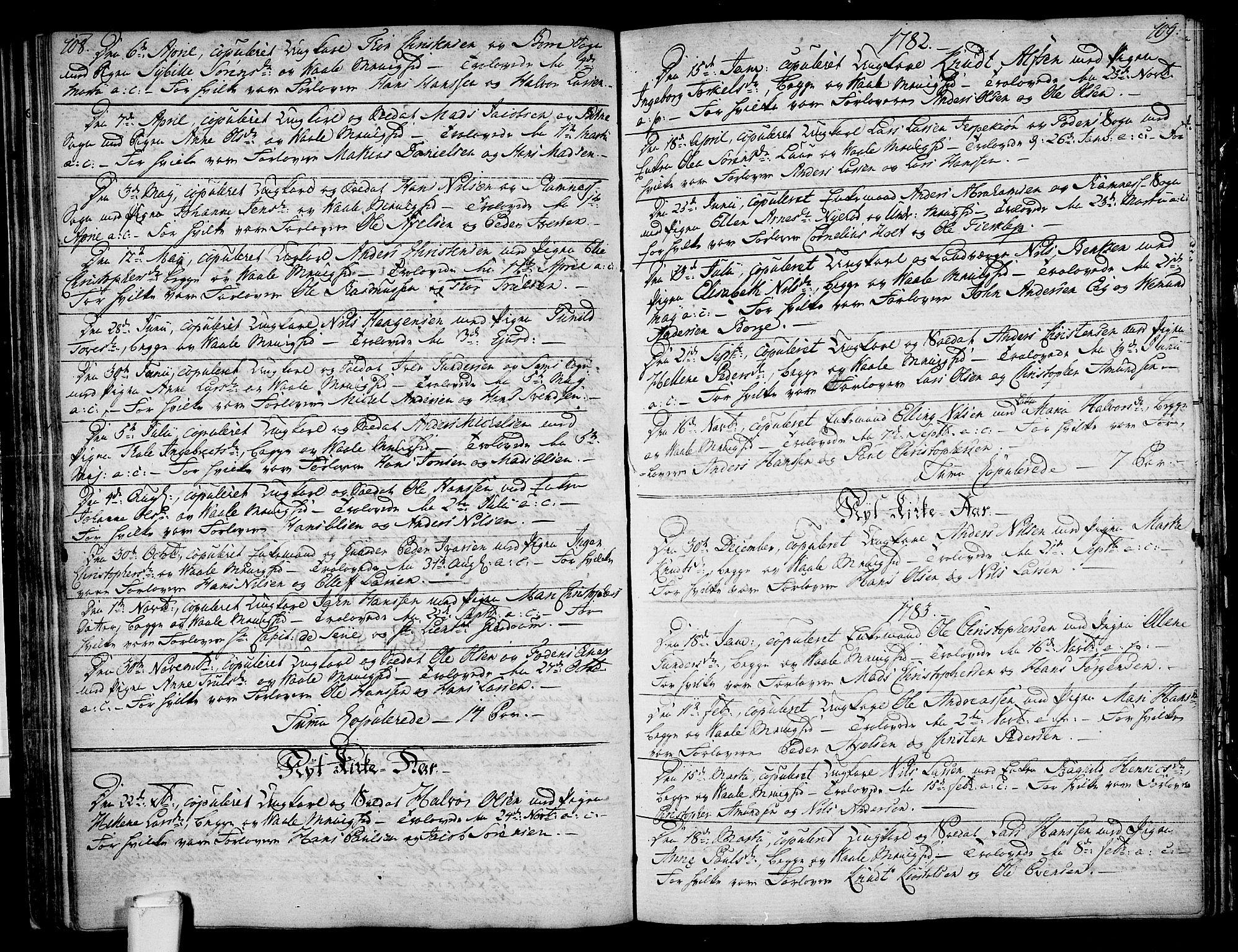 SAKO, Våle kirkebøker, F/Fa/L0005: Ministerialbok nr. I 5, 1773-1808, s. 108-109