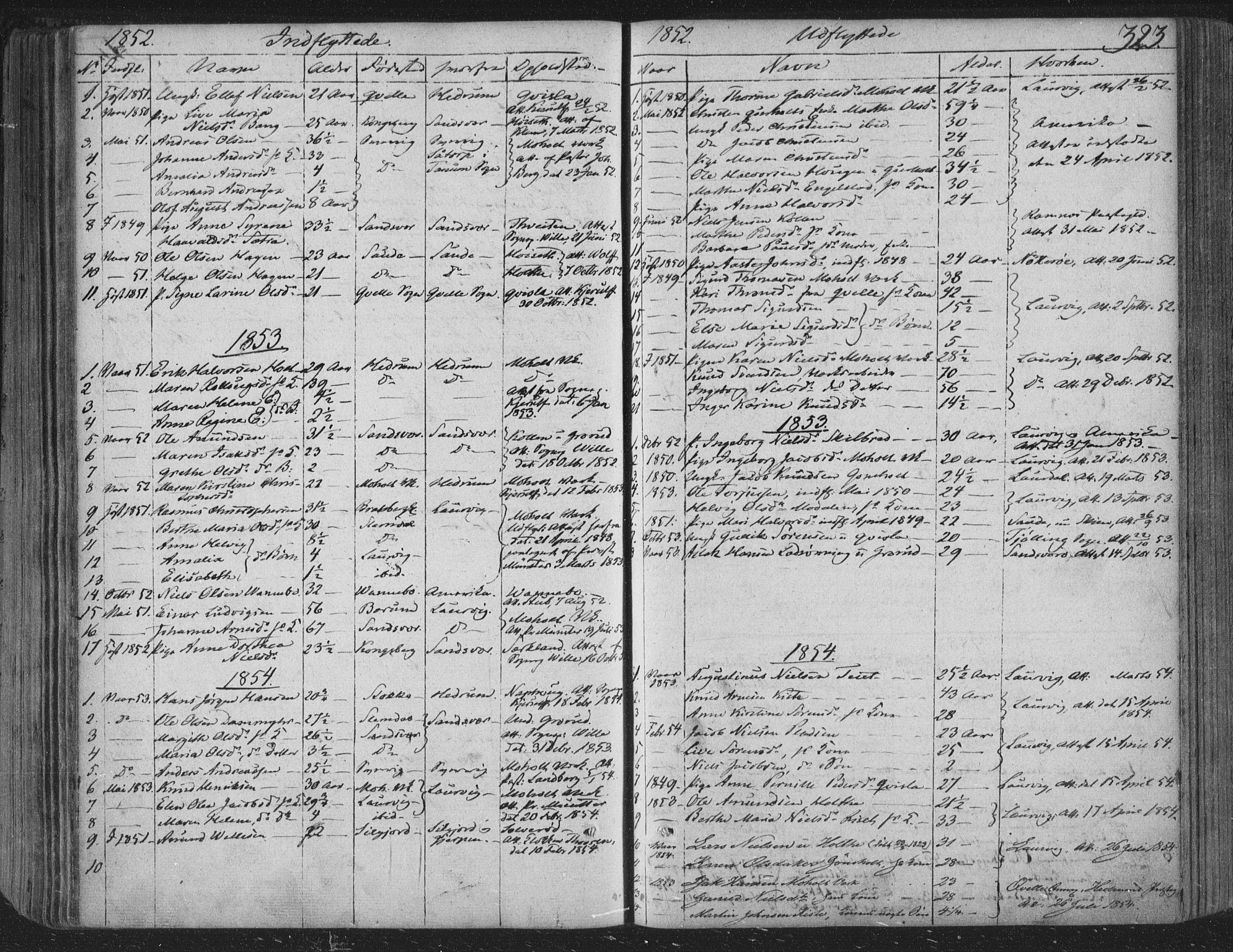 SAKO, Siljan kirkebøker, F/Fa/L0001: Ministerialbok nr. 1, 1831-1870, s. 323