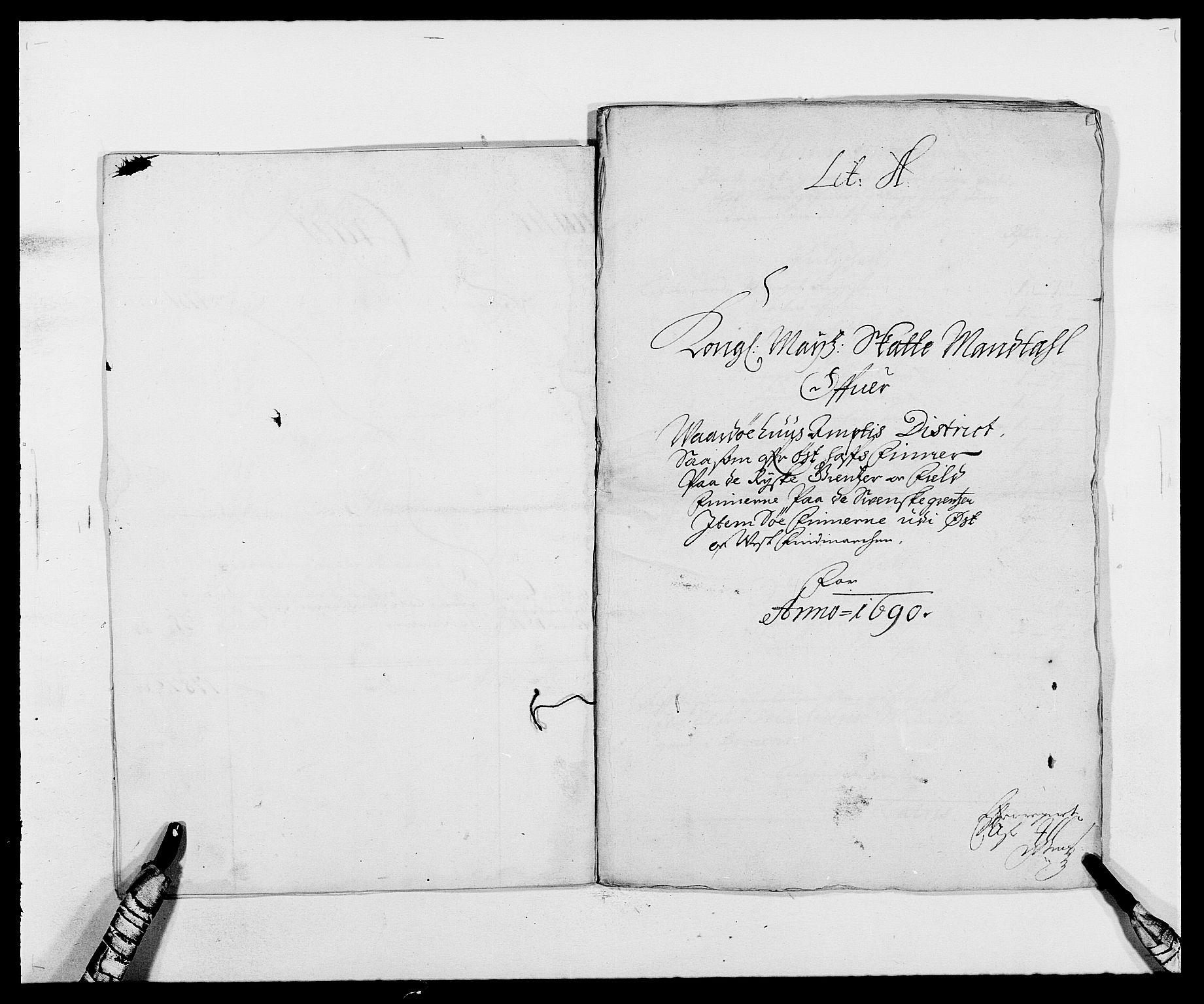 RA, Rentekammeret inntil 1814, Reviderte regnskaper, Fogderegnskap, R69/L4850: Fogderegnskap Finnmark/Vardøhus, 1680-1690, s. 205