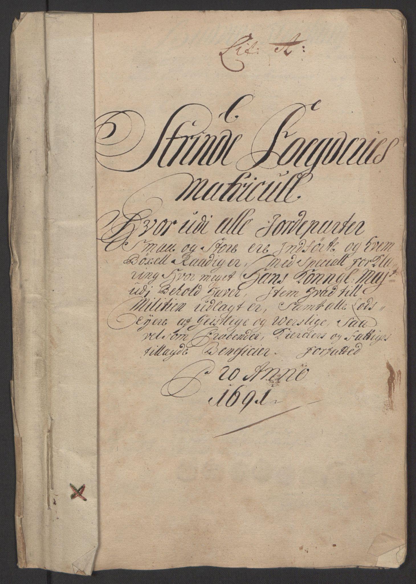 RA, Rentekammeret inntil 1814, Reviderte regnskaper, Fogderegnskap, R61/L4103: Fogderegnskap Strinda og Selbu, 1691-1692, s. 14