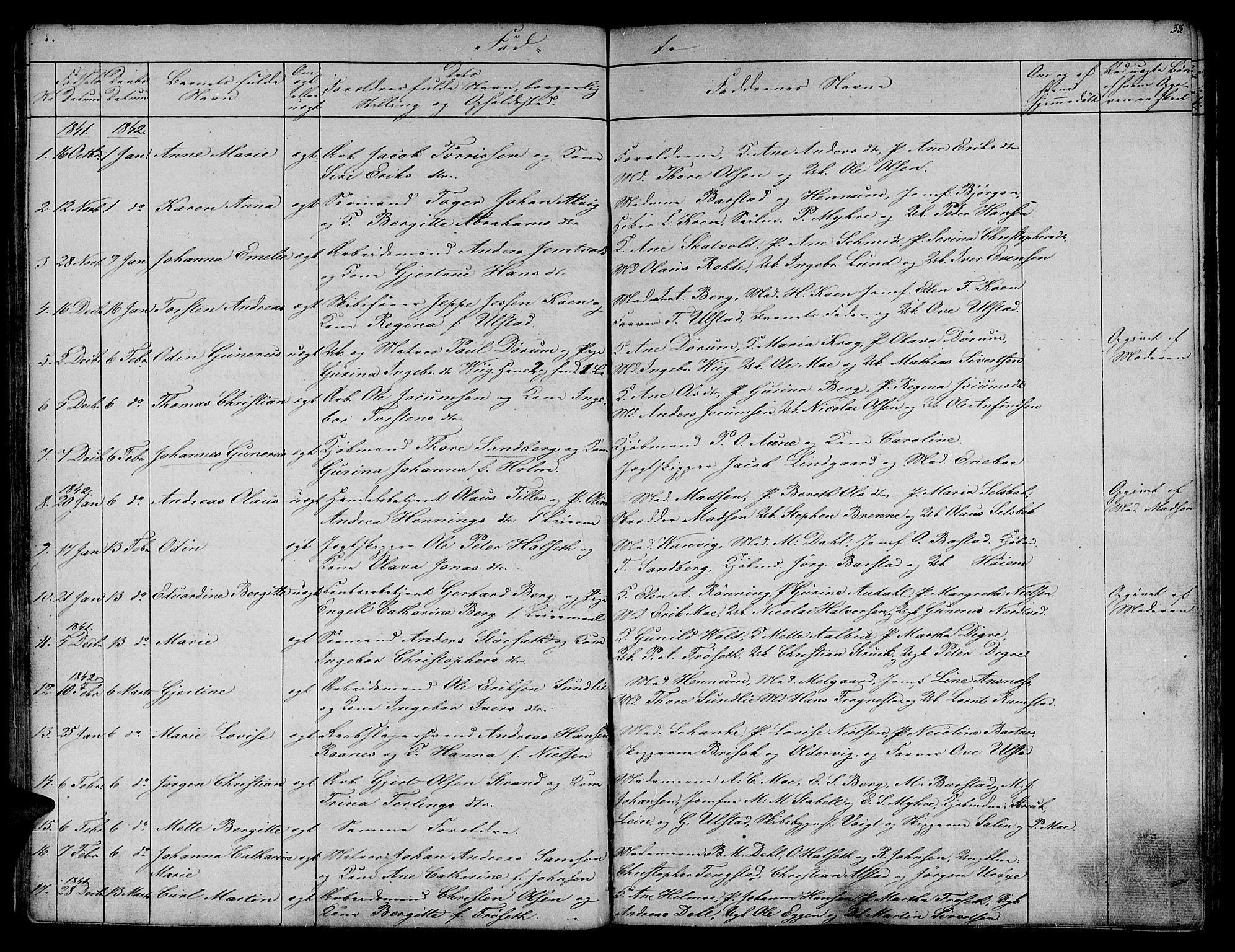 SAT, Ministerialprotokoller, klokkerbøker og fødselsregistre - Sør-Trøndelag, 604/L0182: Ministerialbok nr. 604A03, 1818-1850, s. 33