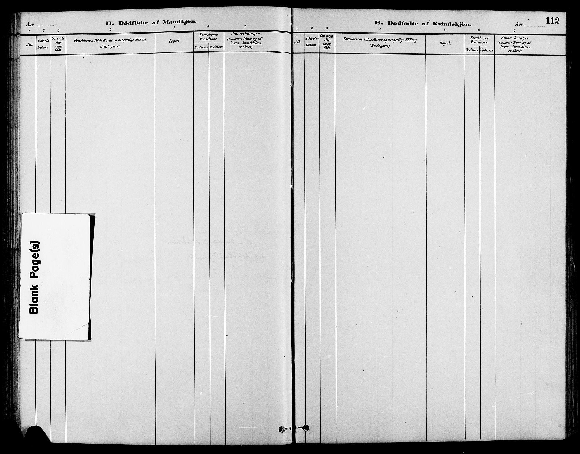 SAH, Nord-Fron prestekontor, Klokkerbok nr. 4, 1884-1914, s. 112