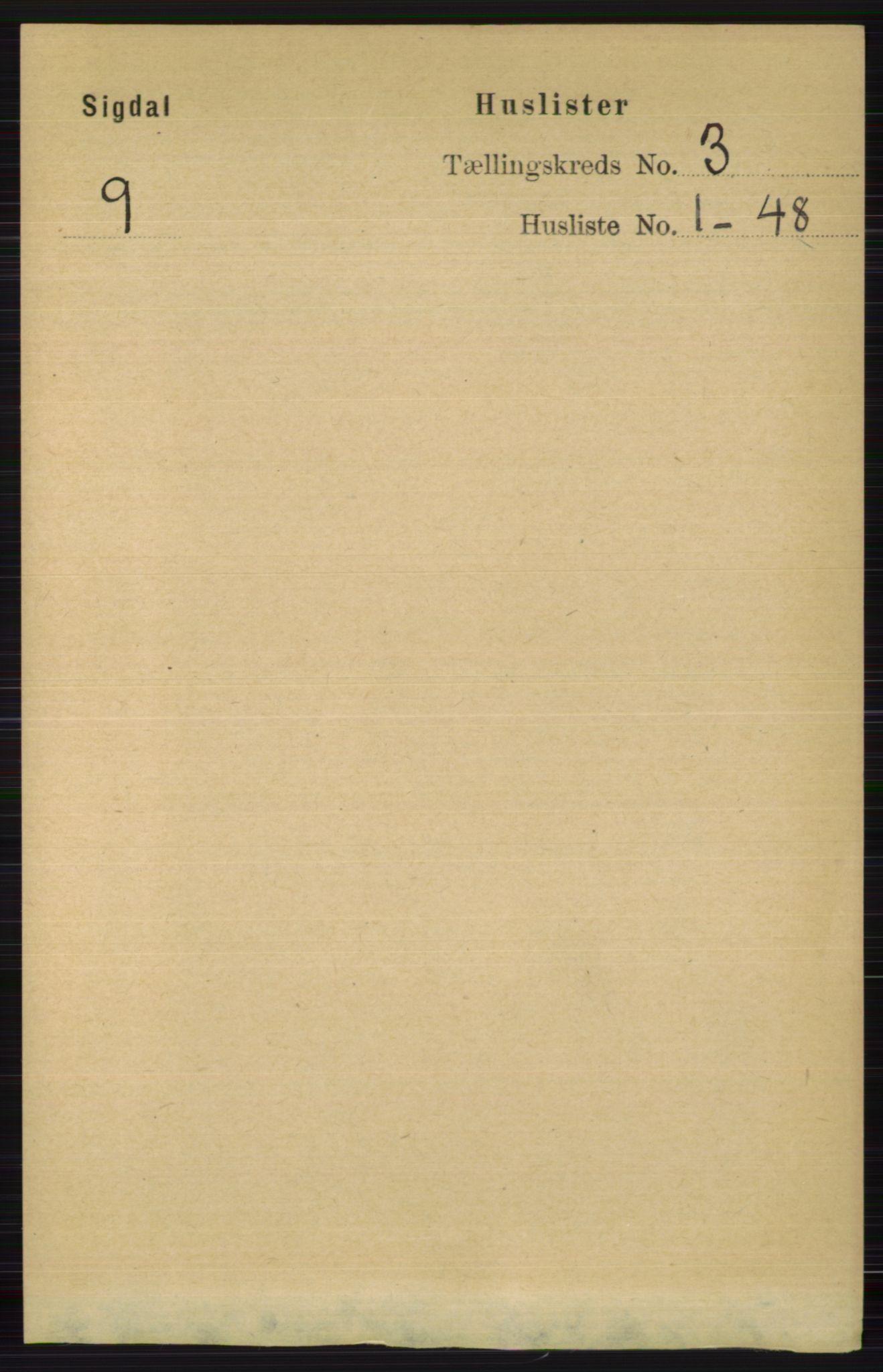 RA, Folketelling 1891 for 0621 Sigdal herred, 1891, s. 1280