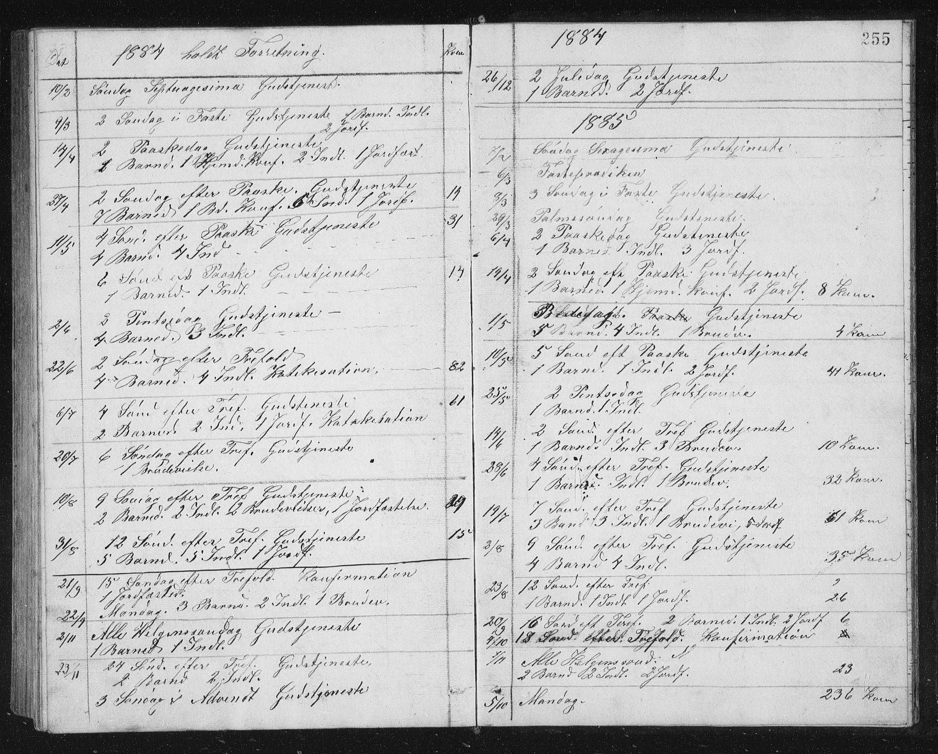 SAT, Ministerialprotokoller, klokkerbøker og fødselsregistre - Sør-Trøndelag, 662/L0756: Klokkerbok nr. 662C01, 1869-1891, s. 255