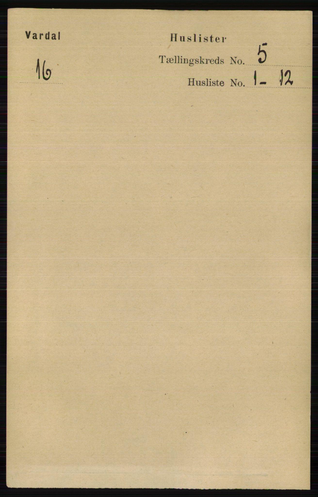 RA, Folketelling 1891 for 0527 Vardal herred, 1891, s. 2141