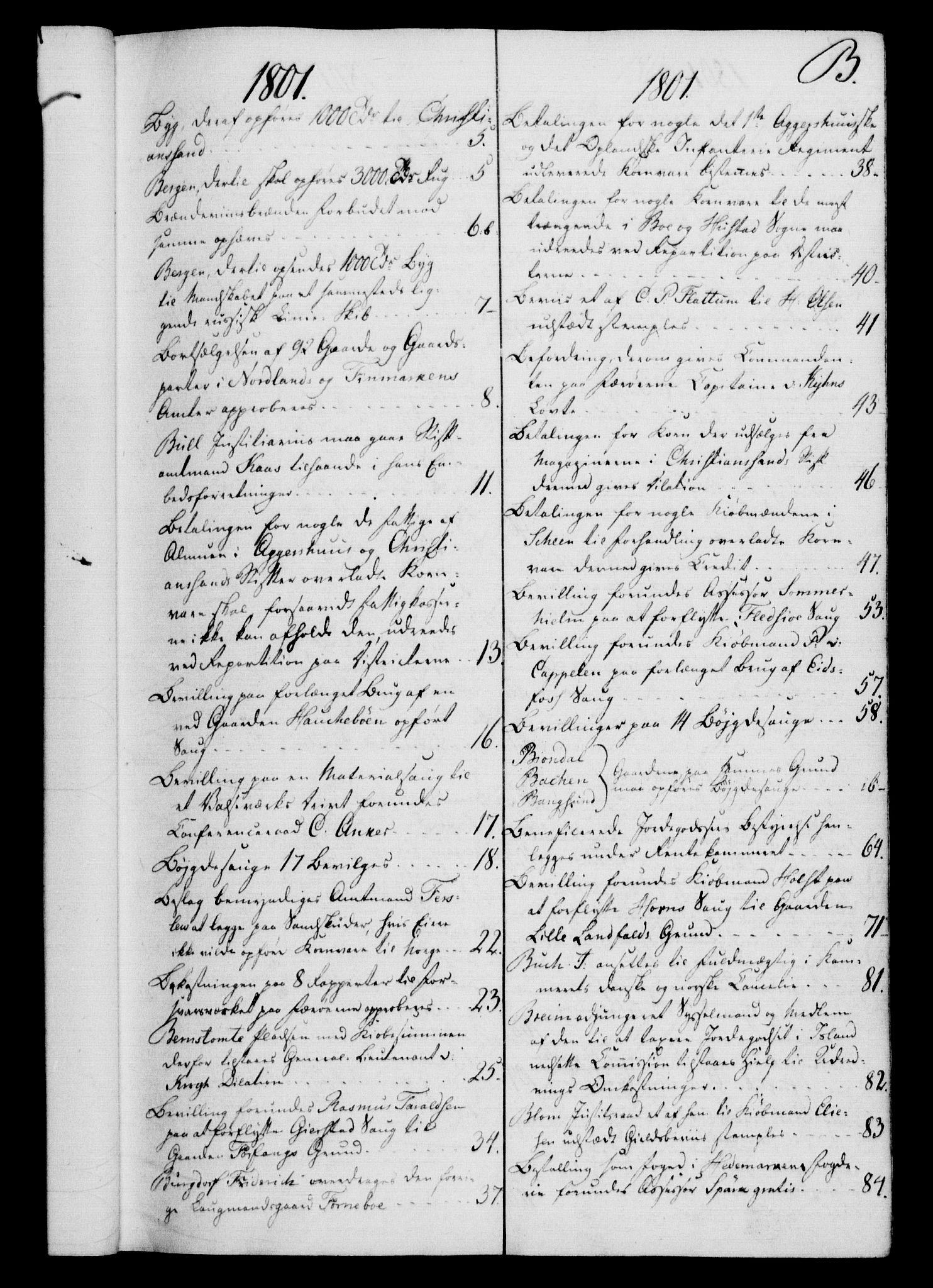 RA, Rentekammeret, Kammerkanselliet, G/Gf/Gfb/L0016: Register til norske relasjons- og resolusjonsprotokoller (merket RK 52.111), 1801-1814, s. 24
