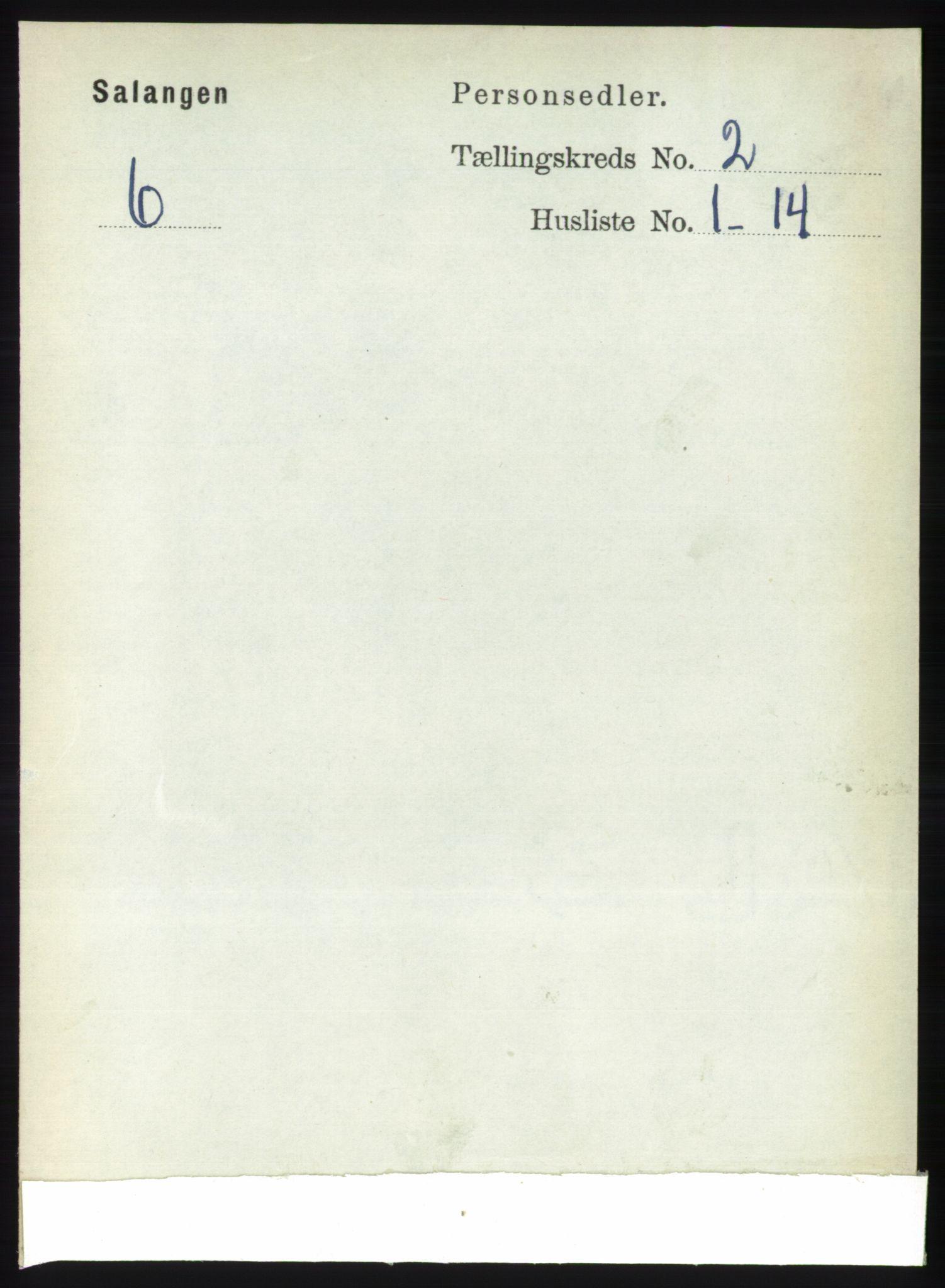 RA, Folketelling 1891 for 1921 Salangen herred, 1891, s. 552