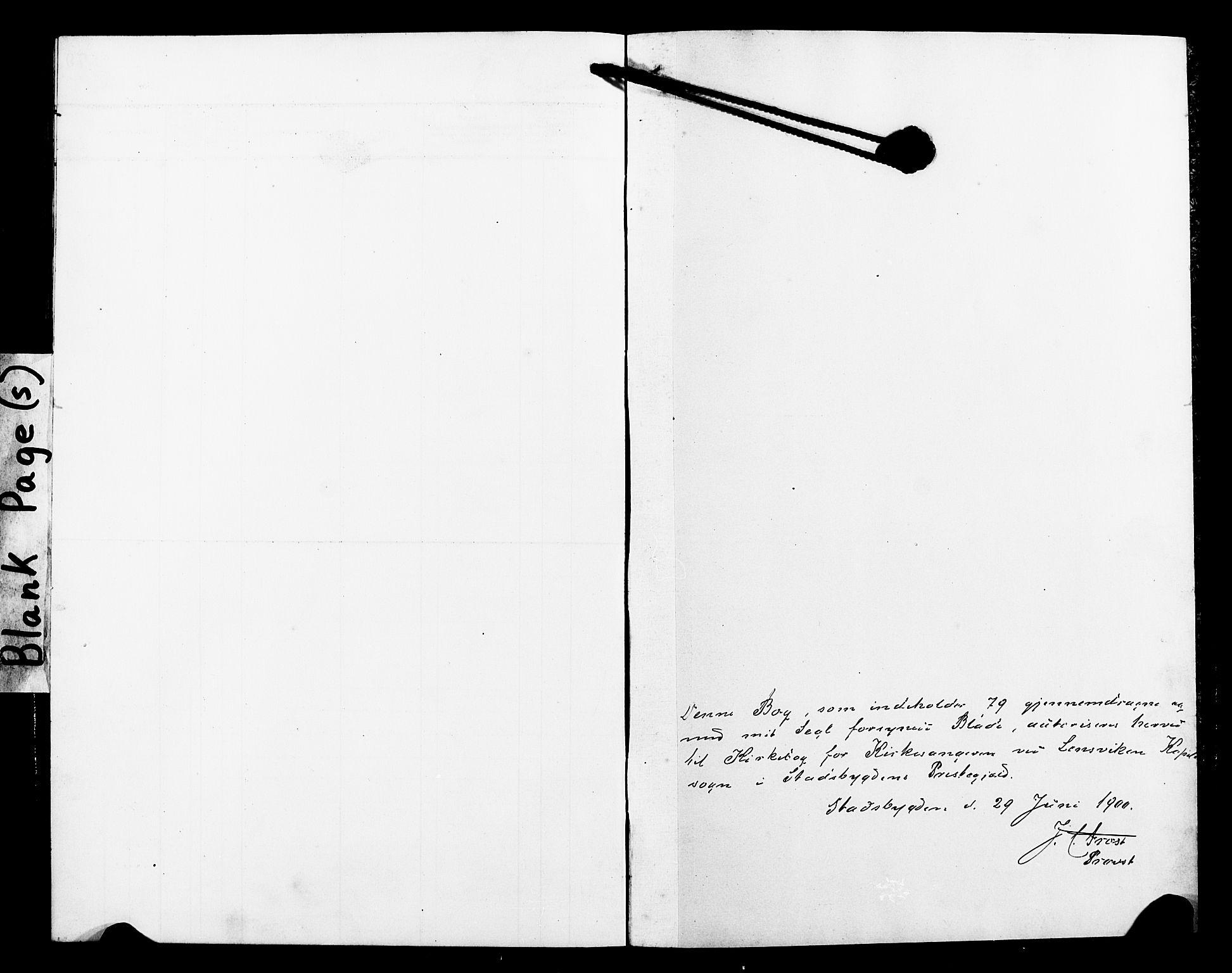 SAT, Ministerialprotokoller, klokkerbøker og fødselsregistre - Sør-Trøndelag, 663/L0763: Klokkerbok nr. 663C03, 1899-1908
