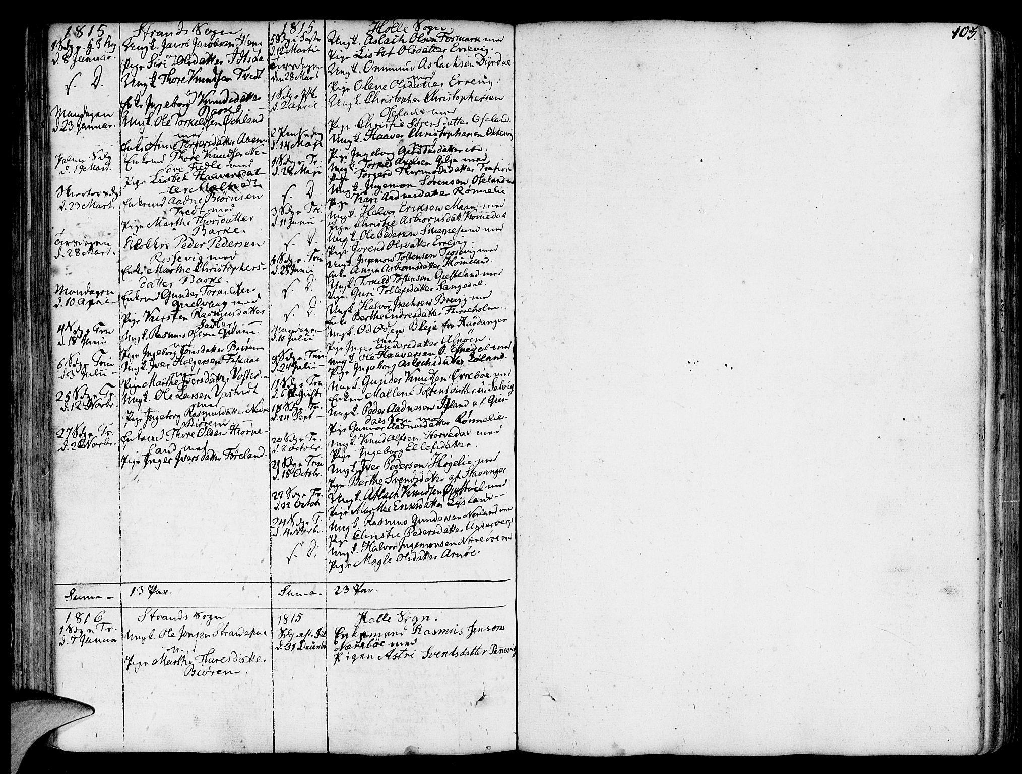 SAST, Strand sokneprestkontor, H/Ha/Haa/L0003: Ministerialbok nr. A 3, 1769-1816, s. 103
