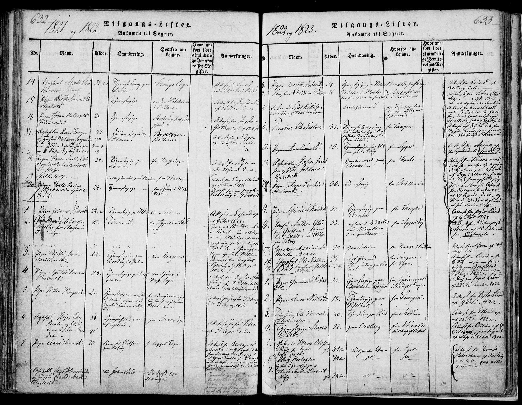 SAKO, Sande Kirkebøker, F/Fa/L0003: Ministerialbok nr. 3, 1814-1847, s. 632-633