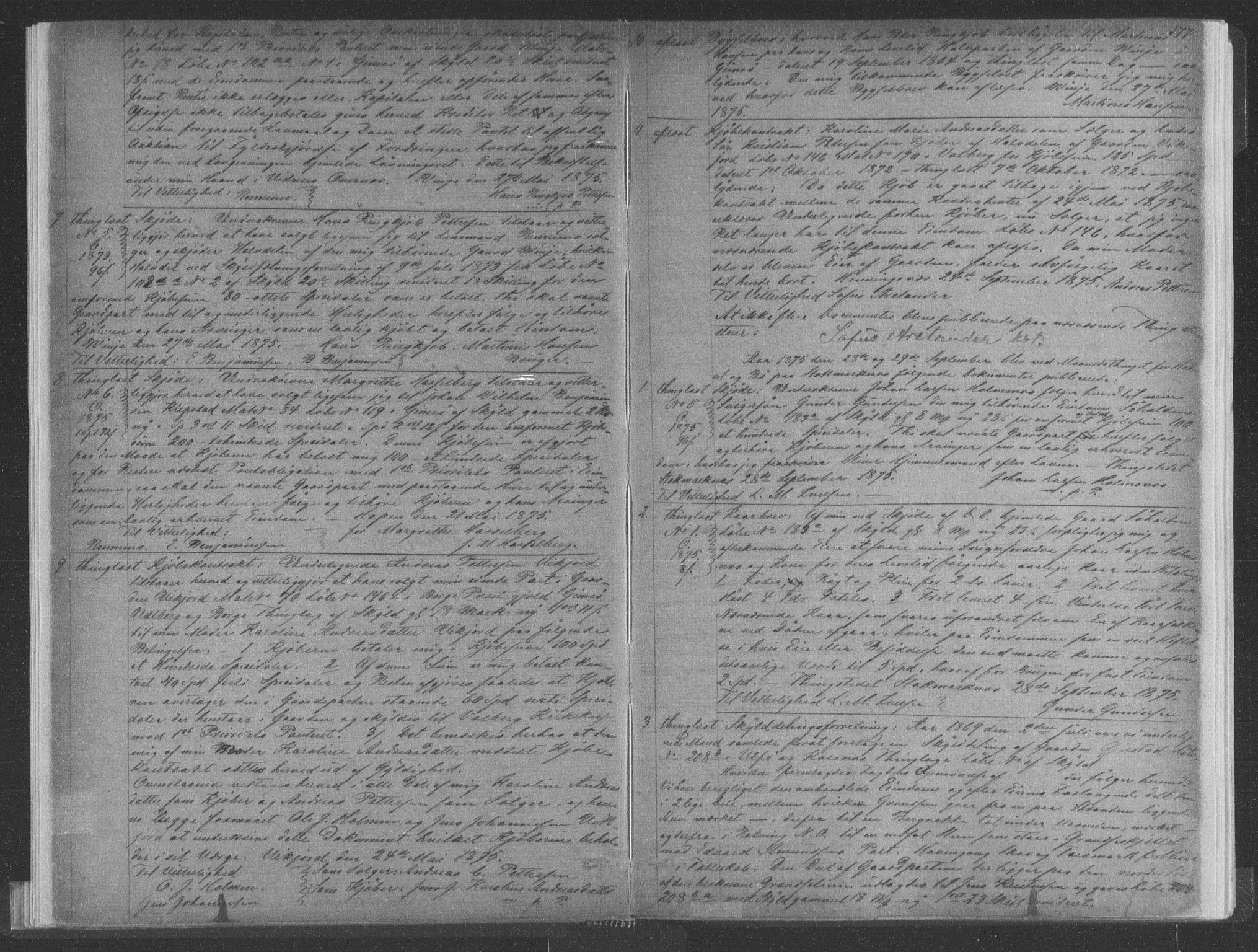 SAT, Vesterålen sorenskriveri, 2/2Ca/L0015: Pantebok nr. M-III, 1875-1877, s. 377
