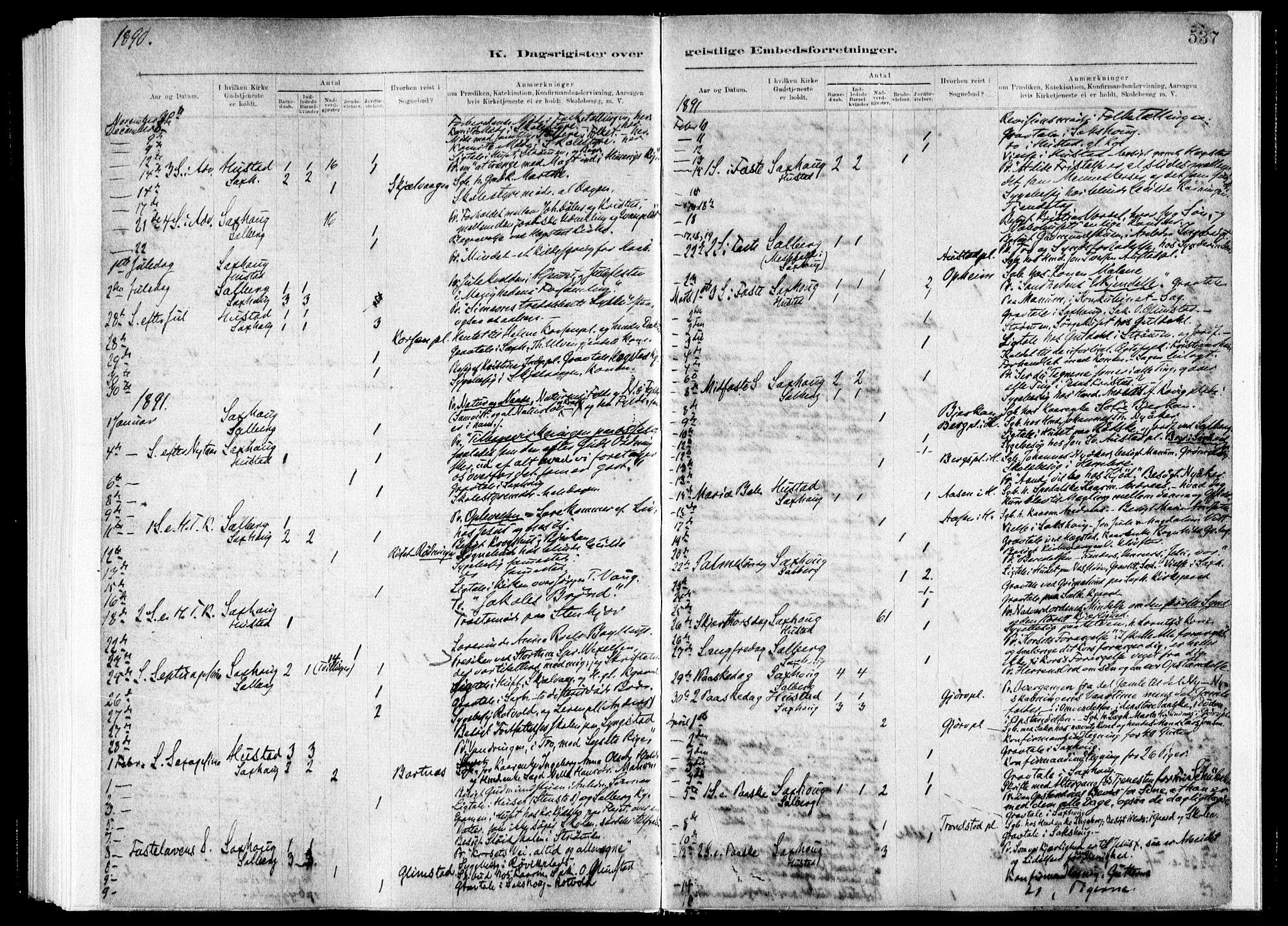 SAT, Ministerialprotokoller, klokkerbøker og fødselsregistre - Nord-Trøndelag, 730/L0285: Ministerialbok nr. 730A10, 1879-1914, s. 537
