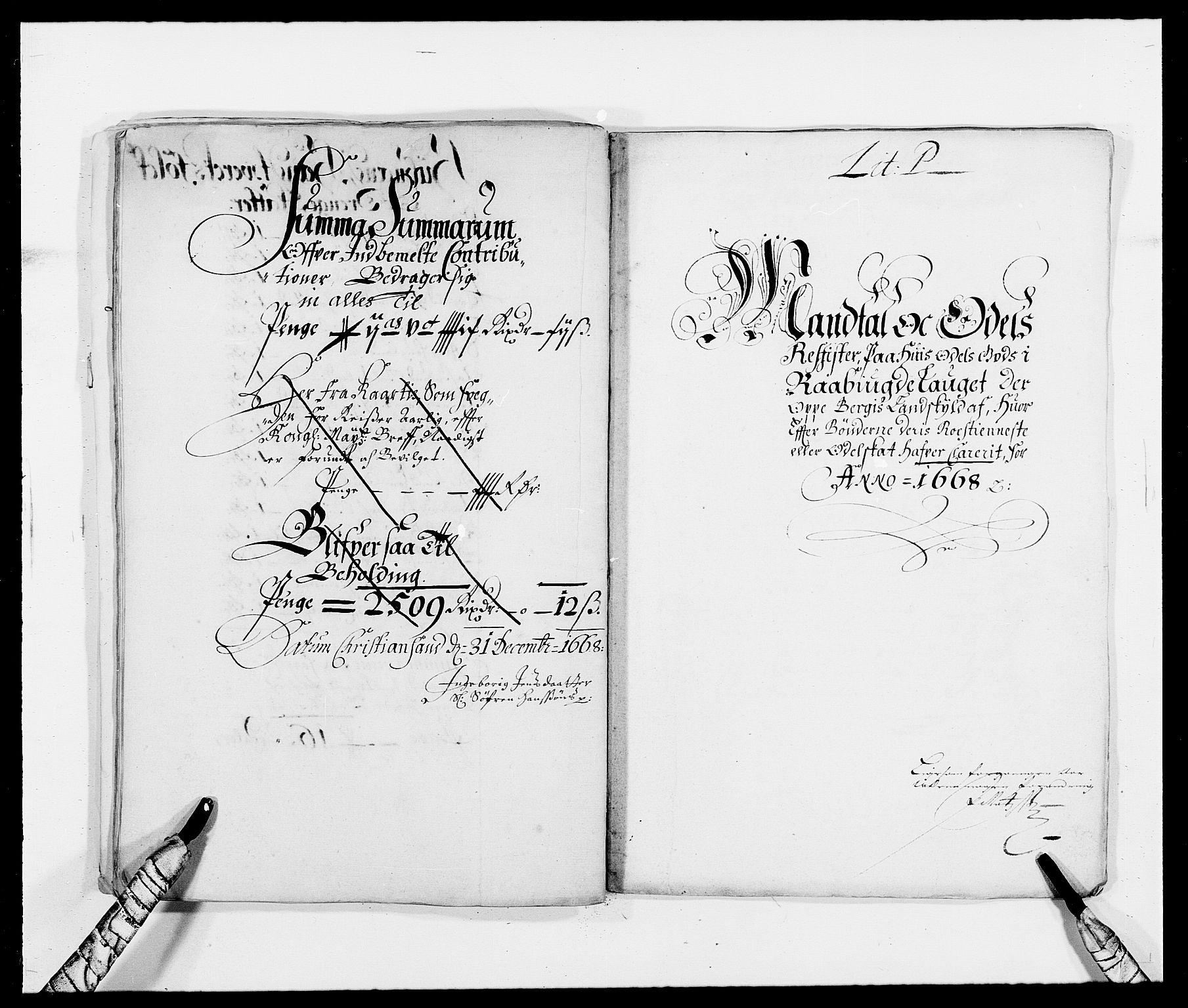 RA, Rentekammeret inntil 1814, Reviderte regnskaper, Fogderegnskap, R40/L2431: Fogderegnskap Råbyggelag, 1664-1668, s. 329