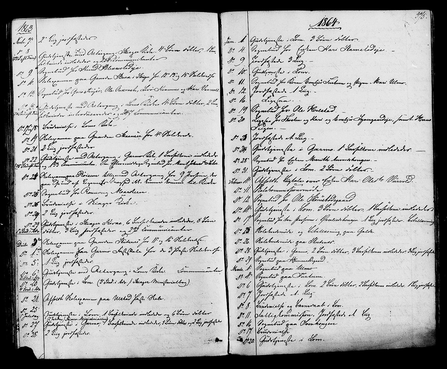 SAH, Lom prestekontor, K/L0007: Ministerialbok nr. 7, 1863-1884, s. 375