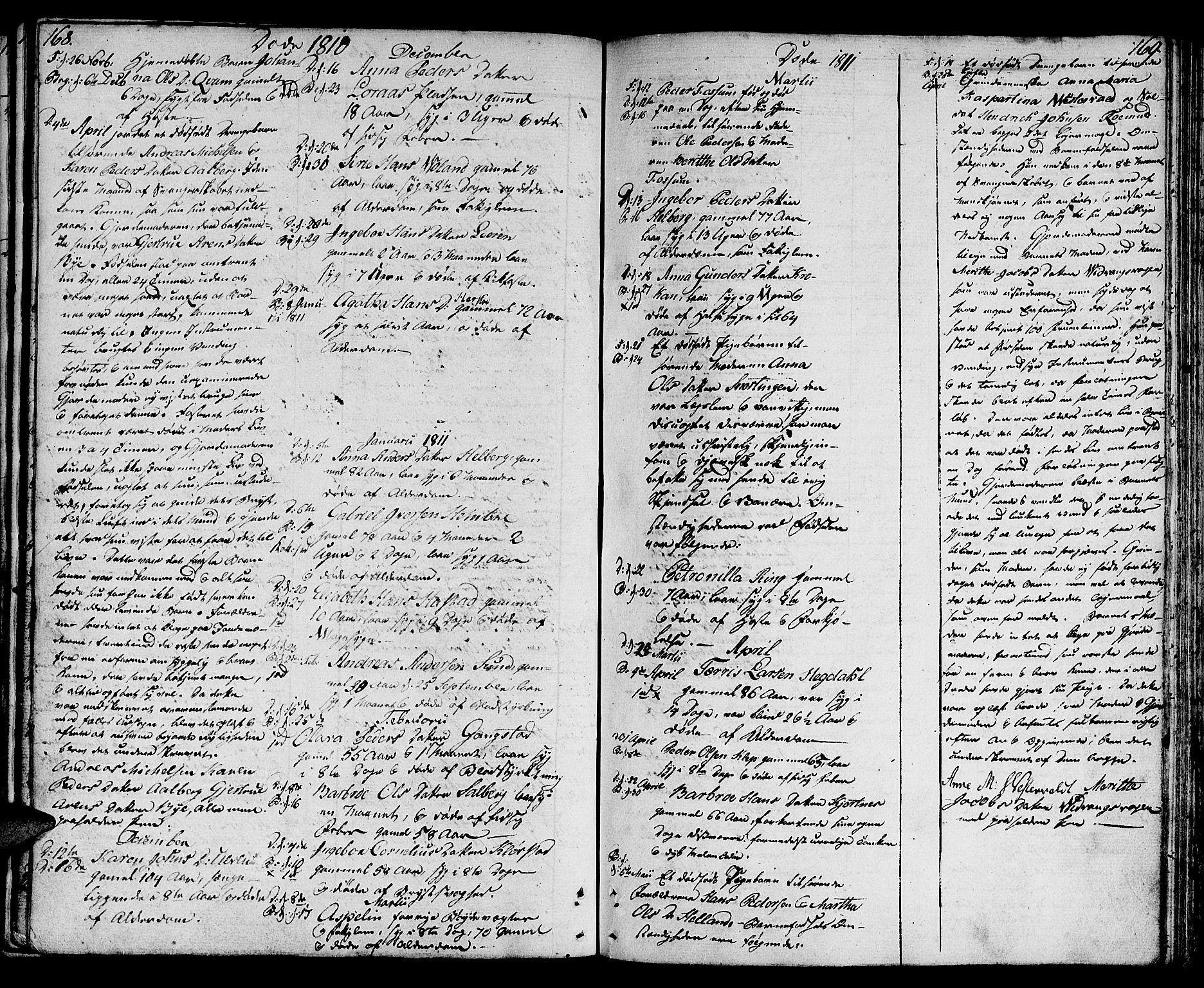 SAT, Ministerialprotokoller, klokkerbøker og fødselsregistre - Nord-Trøndelag, 730/L0274: Ministerialbok nr. 730A03, 1802-1816, s. 168-169
