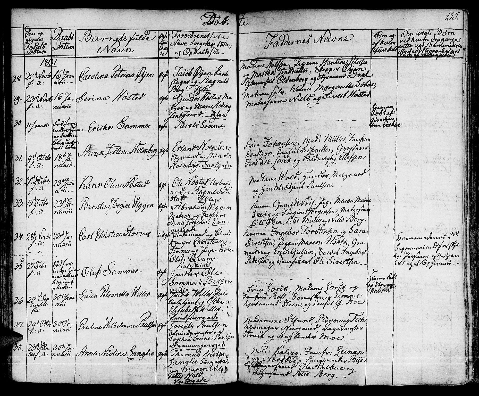 SAT, Ministerialprotokoller, klokkerbøker og fødselsregistre - Sør-Trøndelag, 601/L0045: Ministerialbok nr. 601A13, 1821-1831, s. 155