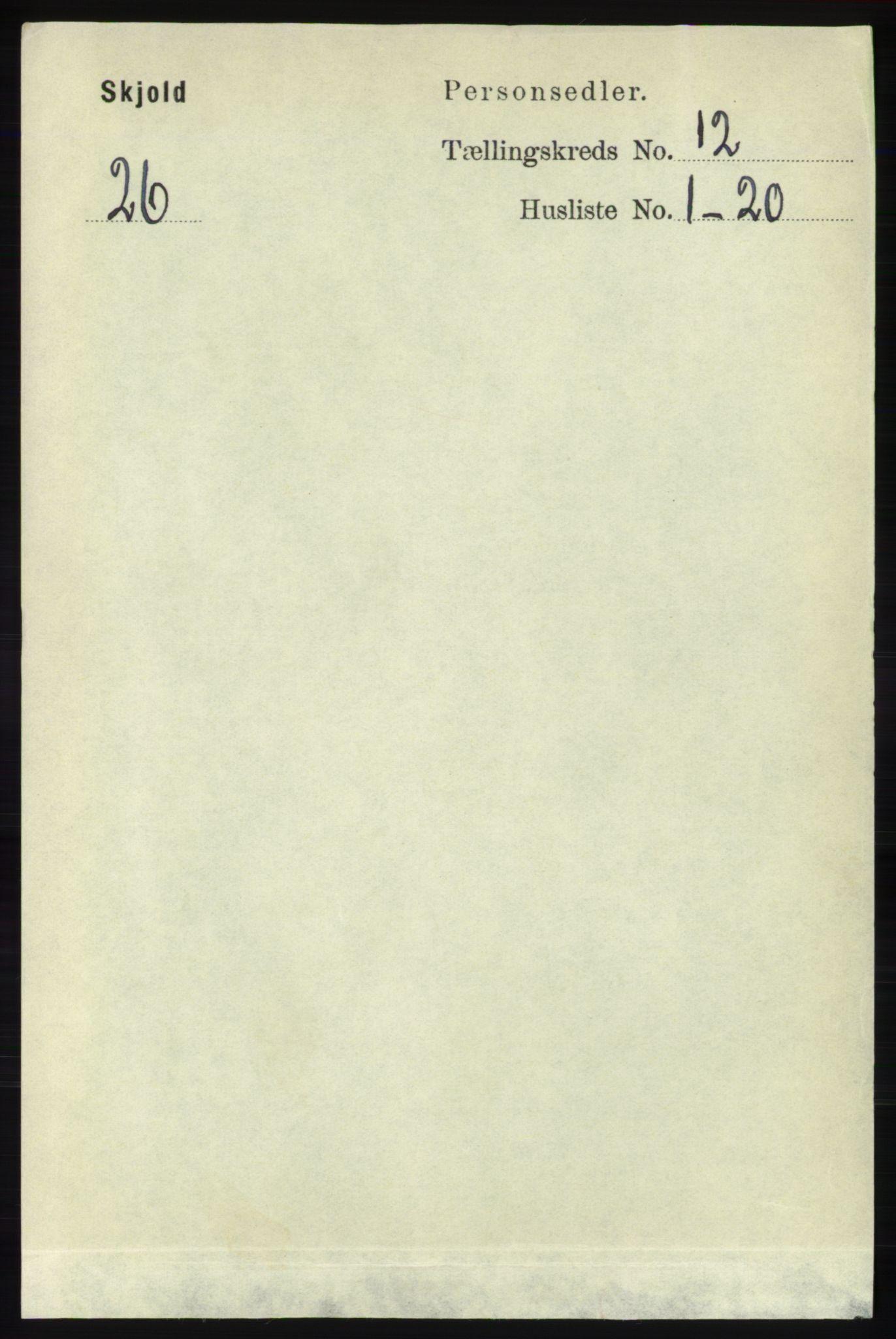 RA, Folketelling 1891 for 1154 Skjold herred, 1891, s. 2250