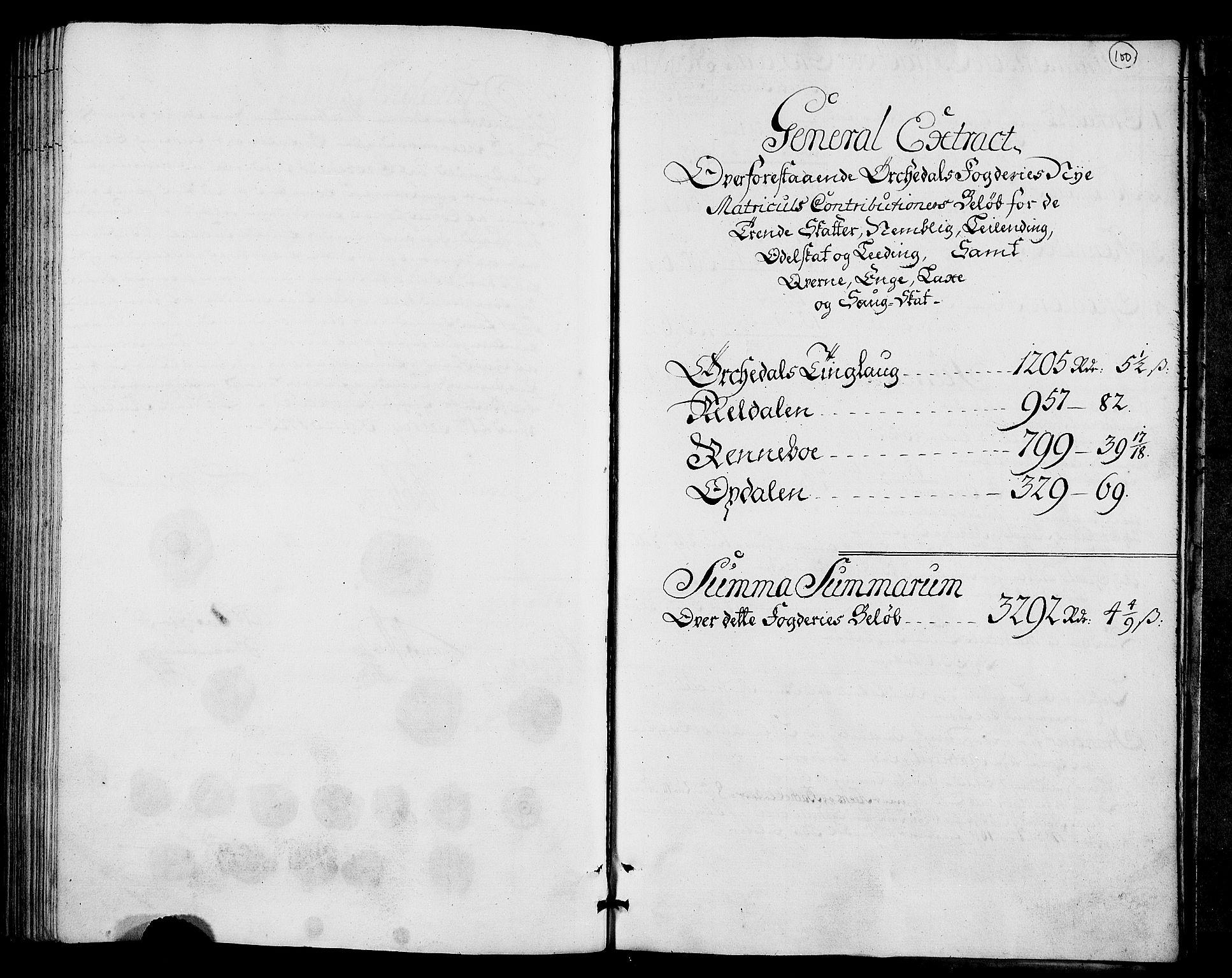 RA, Rentekammeret inntil 1814, Realistisk ordnet avdeling, N/Nb/Nbf/L0157: Orkdal matrikkelprotokoll, 1723, s. 99b-100a