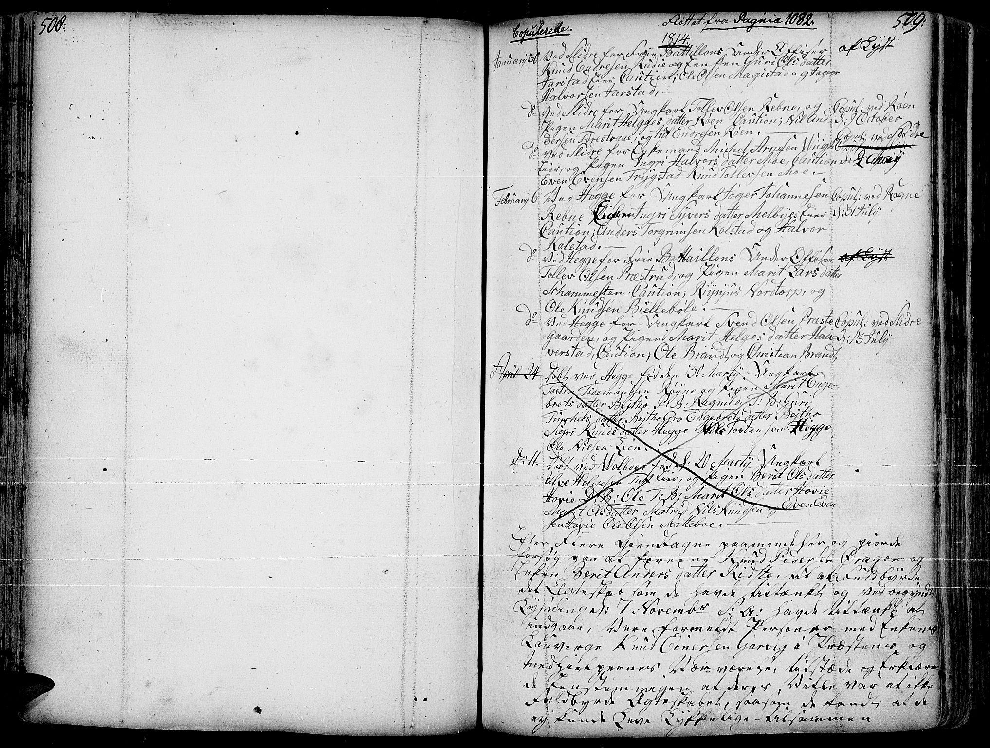 SAH, Slidre prestekontor, Ministerialbok nr. 1, 1724-1814, s. 508-509
