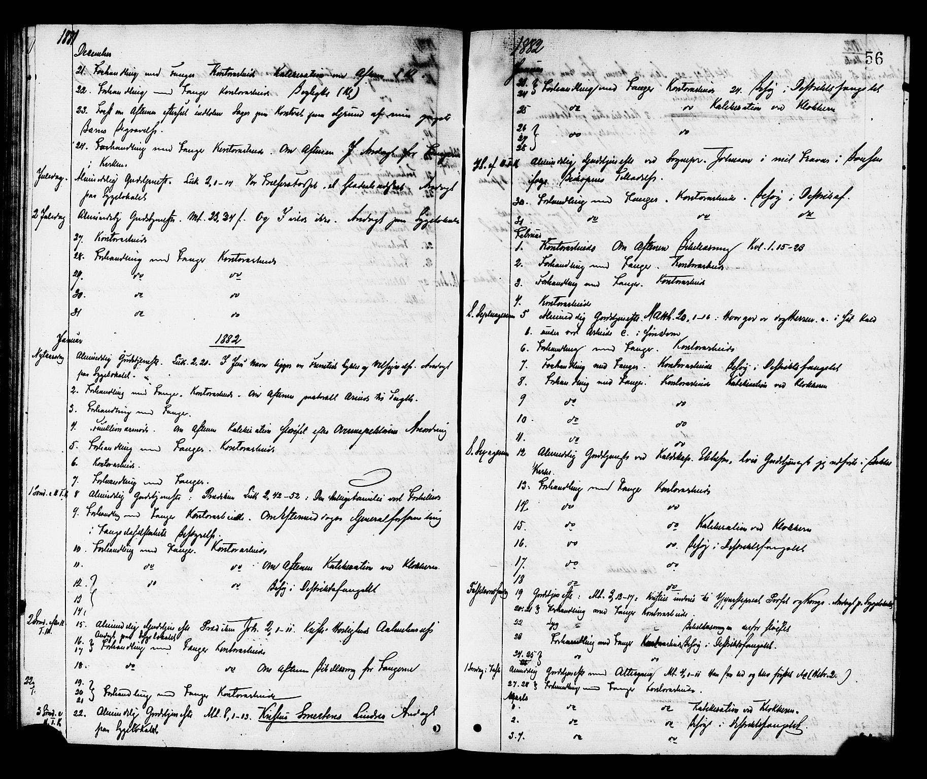 SAT, Ministerialprotokoller, klokkerbøker og fødselsregistre - Sør-Trøndelag, 624/L0482: Ministerialbok nr. 624A03, 1870-1918, s. 56