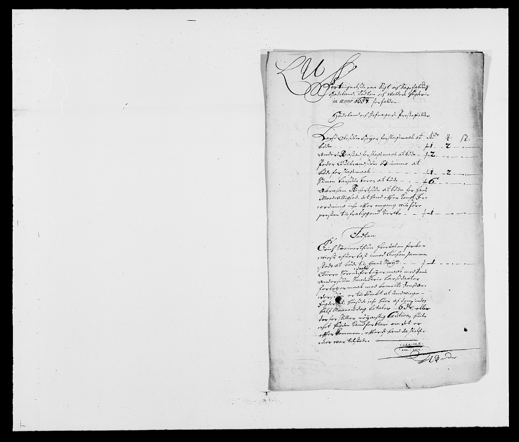 RA, Rentekammeret inntil 1814, Reviderte regnskaper, Fogderegnskap, R18/L1286: Fogderegnskap Hadeland, Toten og Valdres, 1687, s. 96